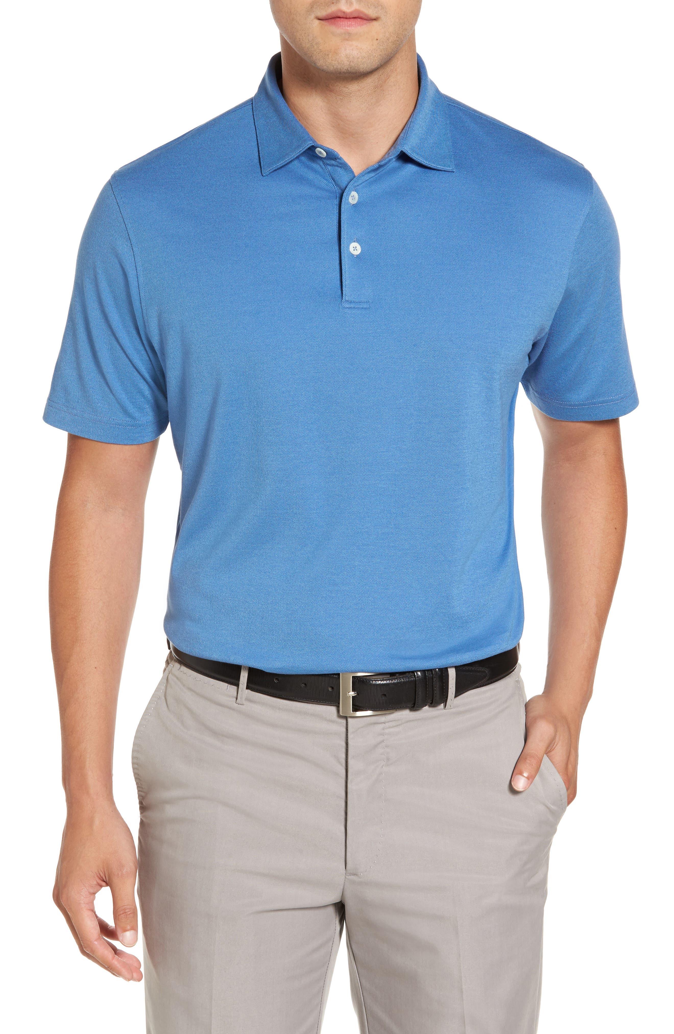 Perfect Piqué Polo,                         Main,                         color, Avio Blue