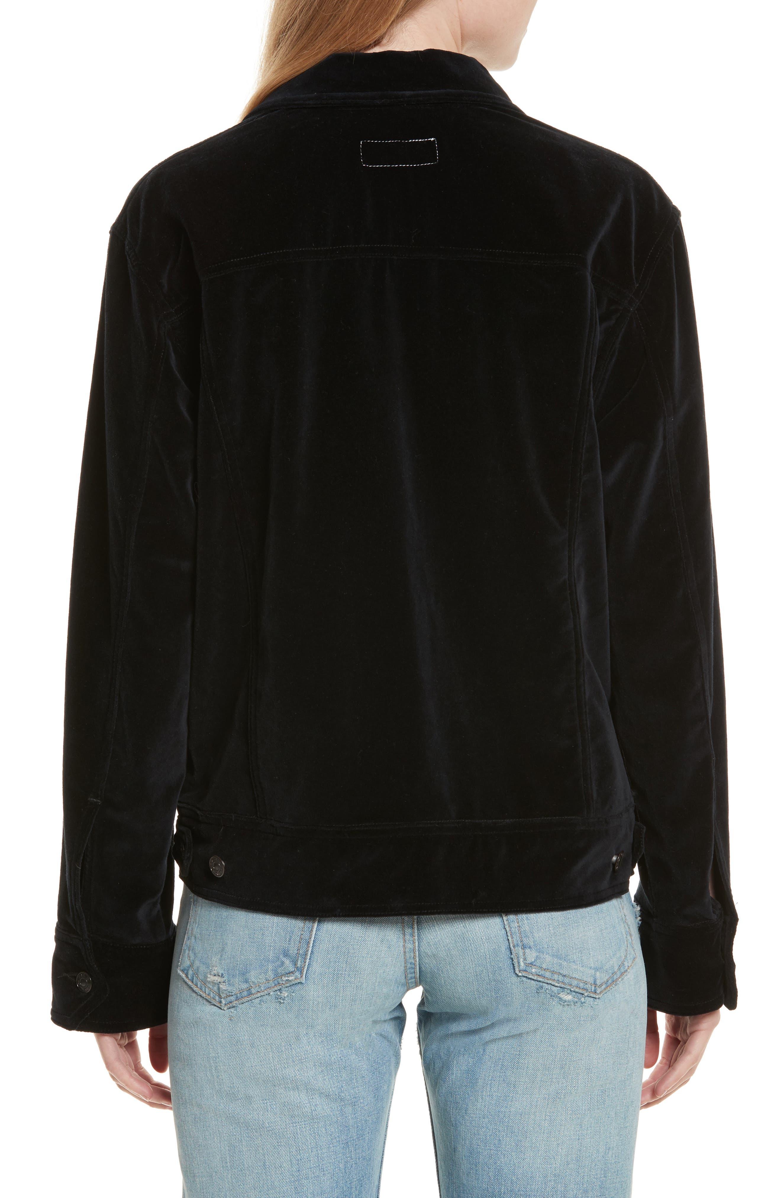 Oversize Velvet Jacket,                             Alternate thumbnail 2, color,                             Black Velvet