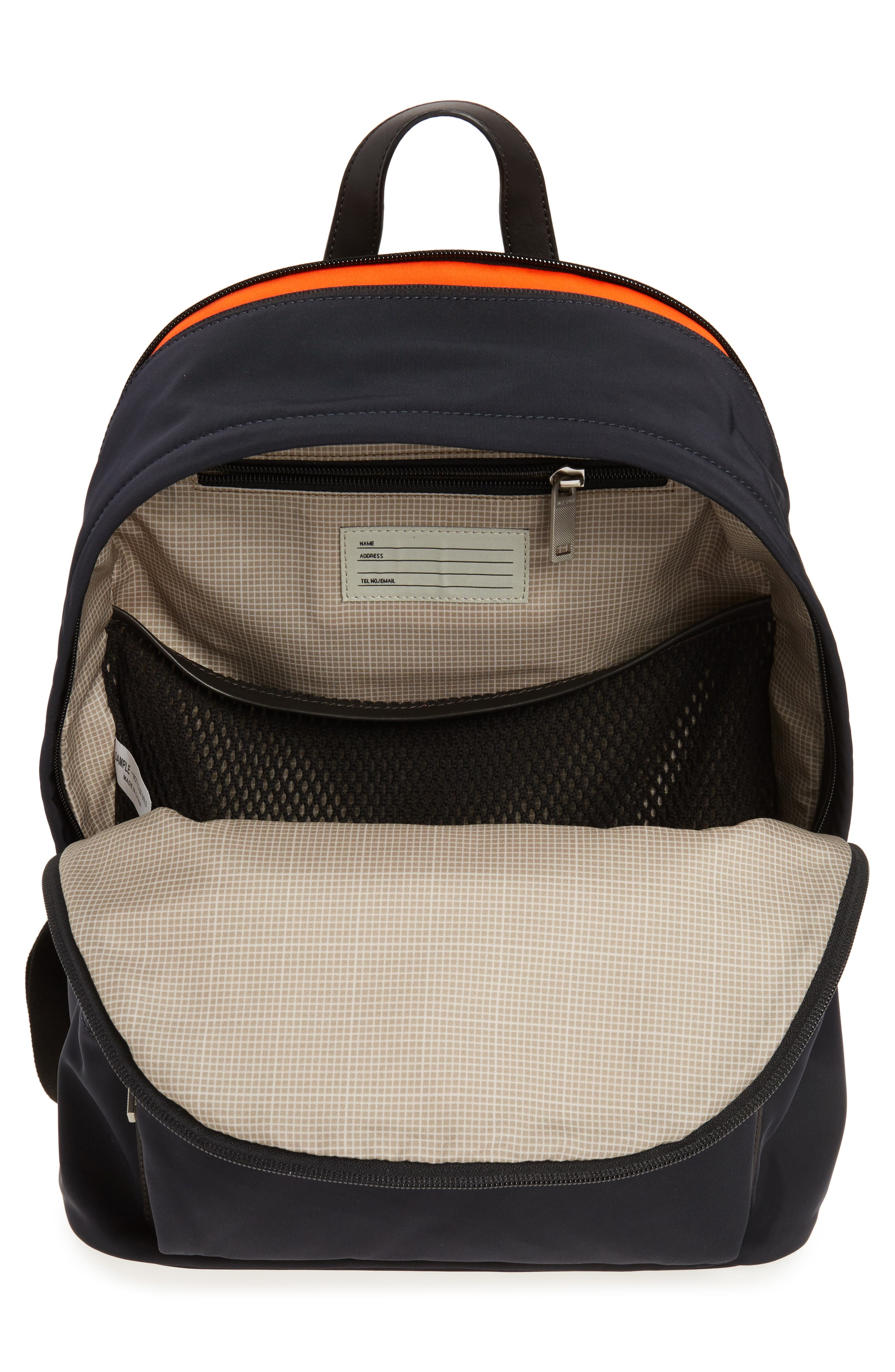 Twill Backpack,                             Alternate thumbnail 4, color,                             Navy