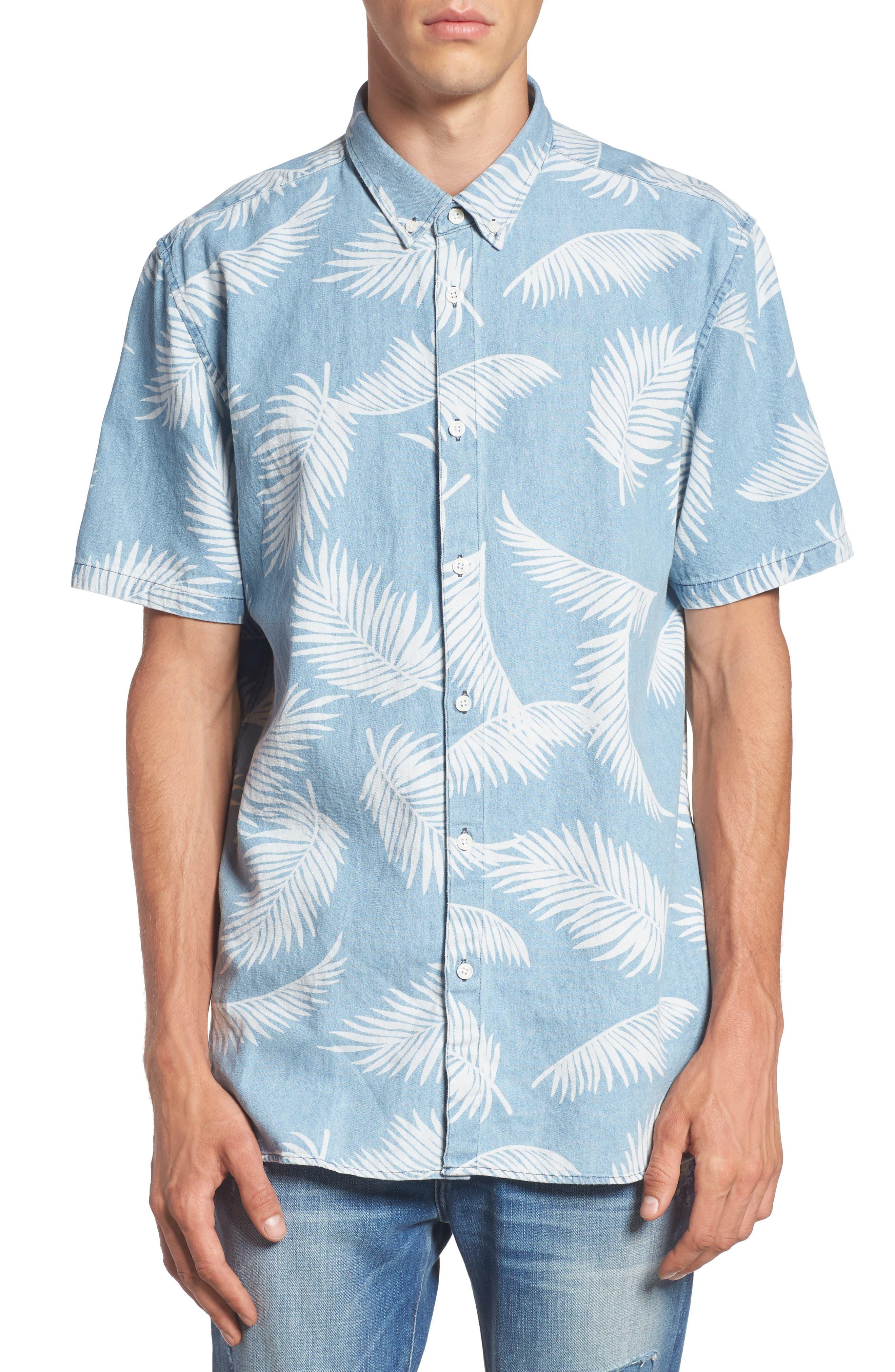 Bahamas Shirt,                         Main,                         color, Indigo/ Floral
