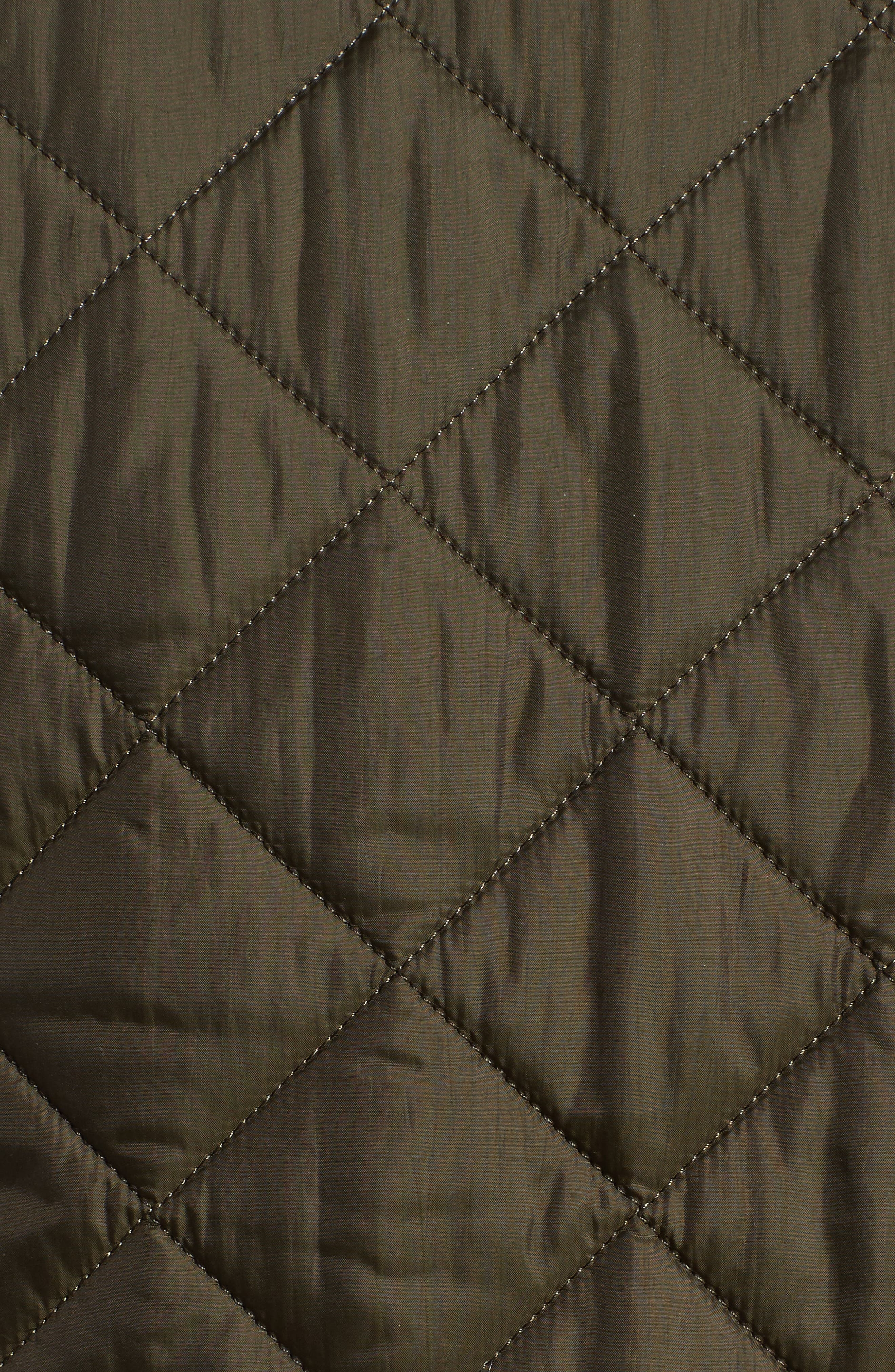 Flyweight Chelsea Quilted Jacket,                             Alternate thumbnail 4, color,                             Olive