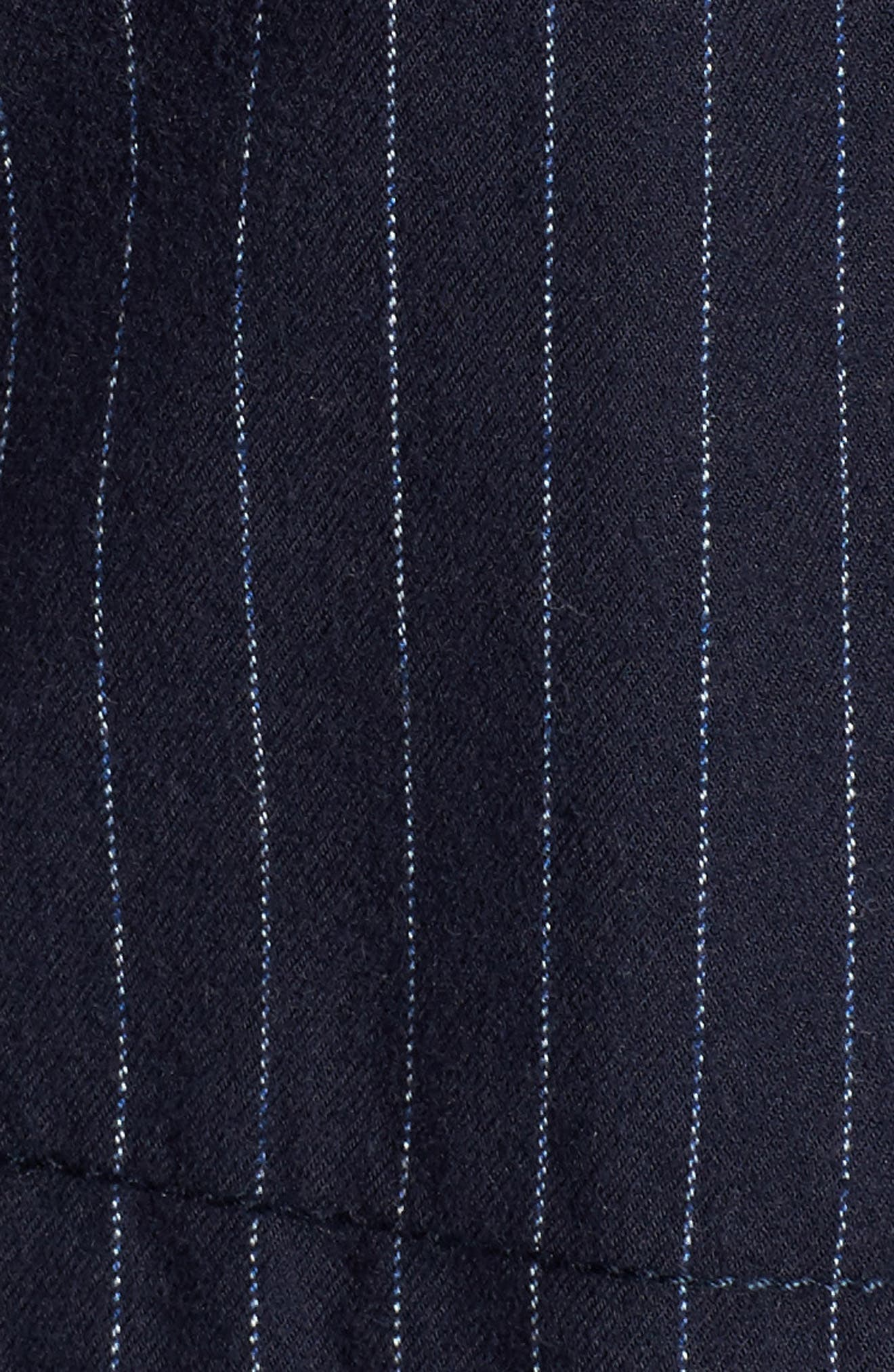 Pinstripe Utility Jacket,                             Alternate thumbnail 5, color,                             Navy- Ivory Pinstripe