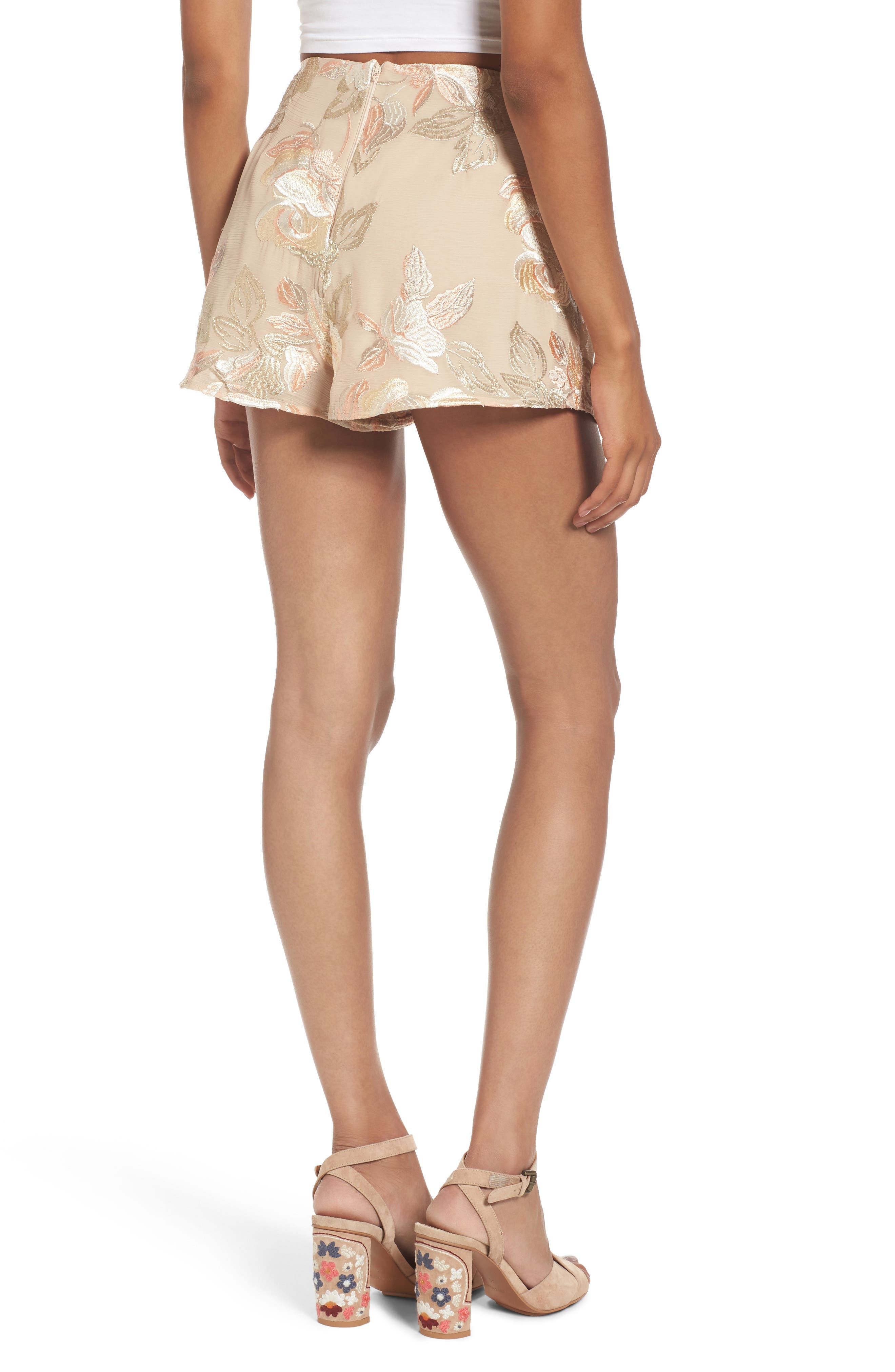 Sawyer High Waist Shorts,                             Alternate thumbnail 2, color,                             Very Fairy Floral