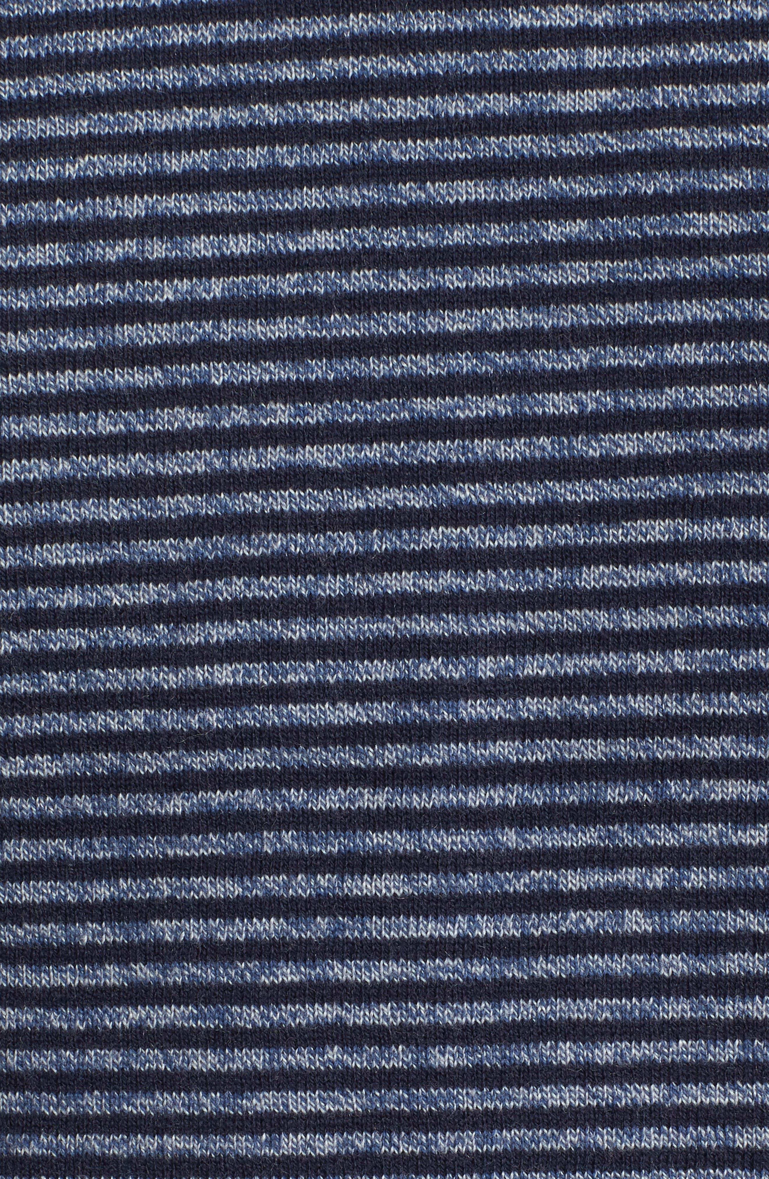 Stripe Cotton & Cashmere Crewneck Sweater,                             Alternate thumbnail 5, color,                             Navy Iris Jaspe Stripe