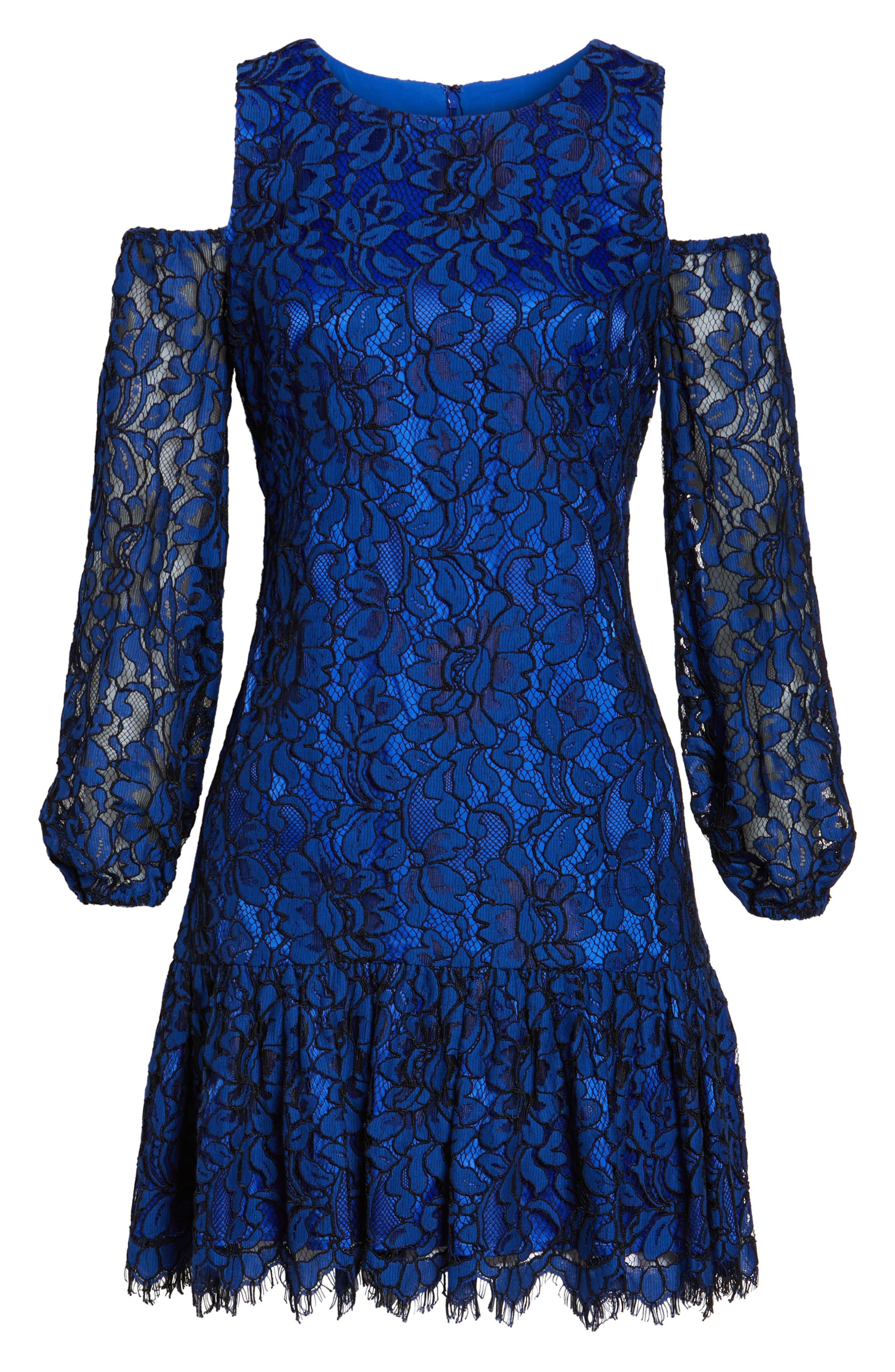 Alternate Image 6  - Eliza J Lace Cold Shoulder Dress