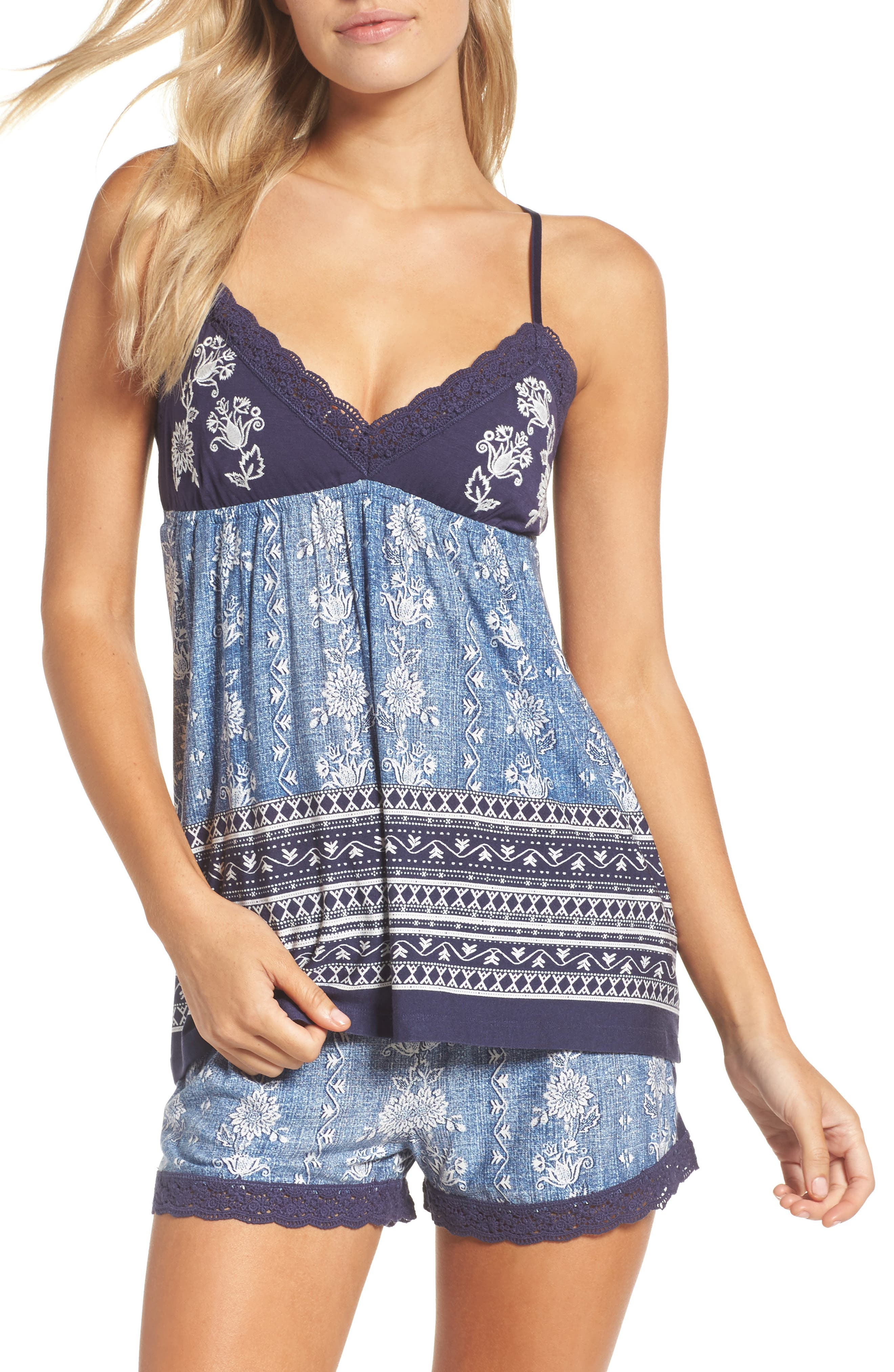 PJ Salvage Denim Look Camisole
