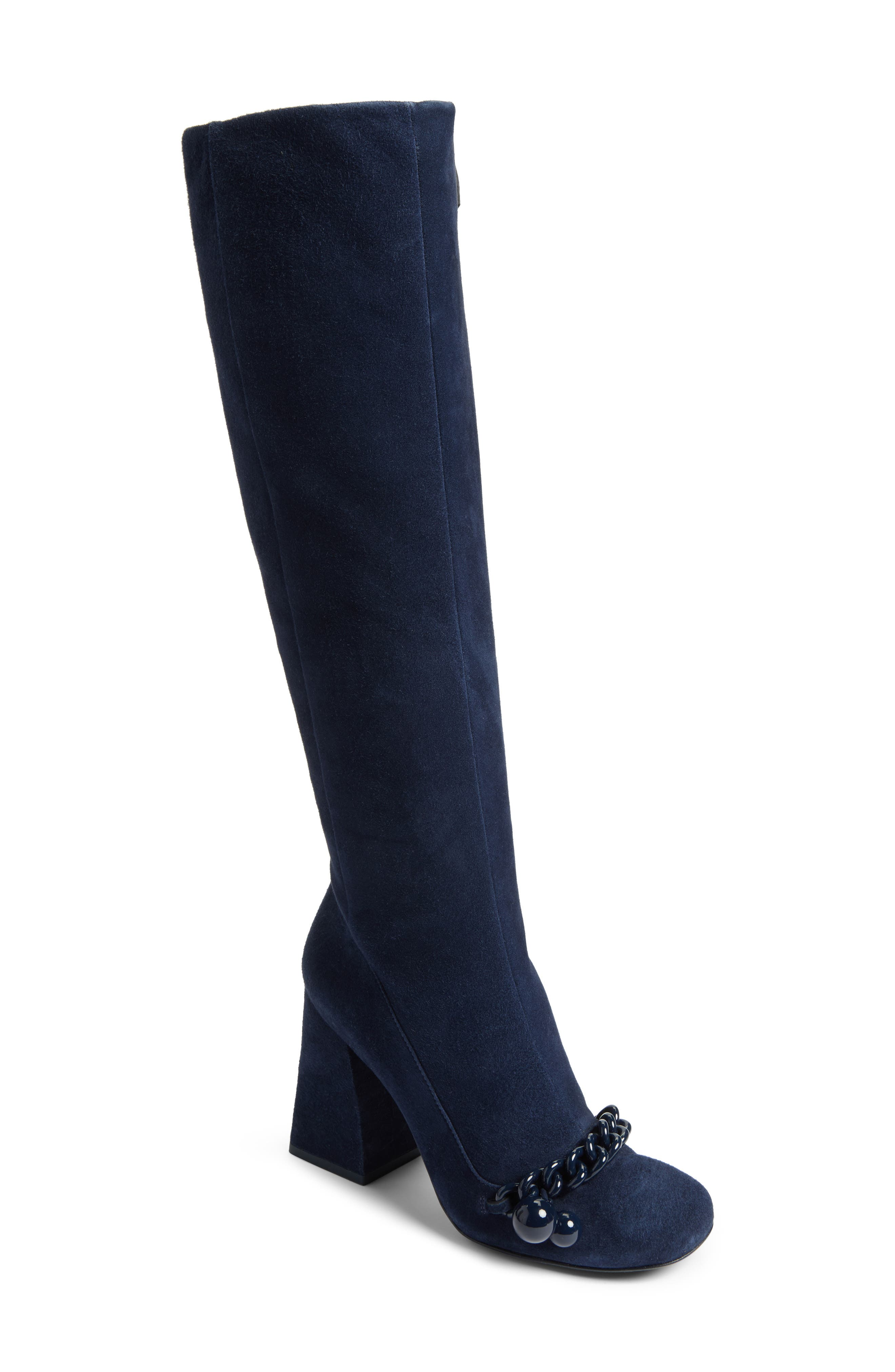 Main Image - Tory Burch Addison Flared Heel Boot (Women)