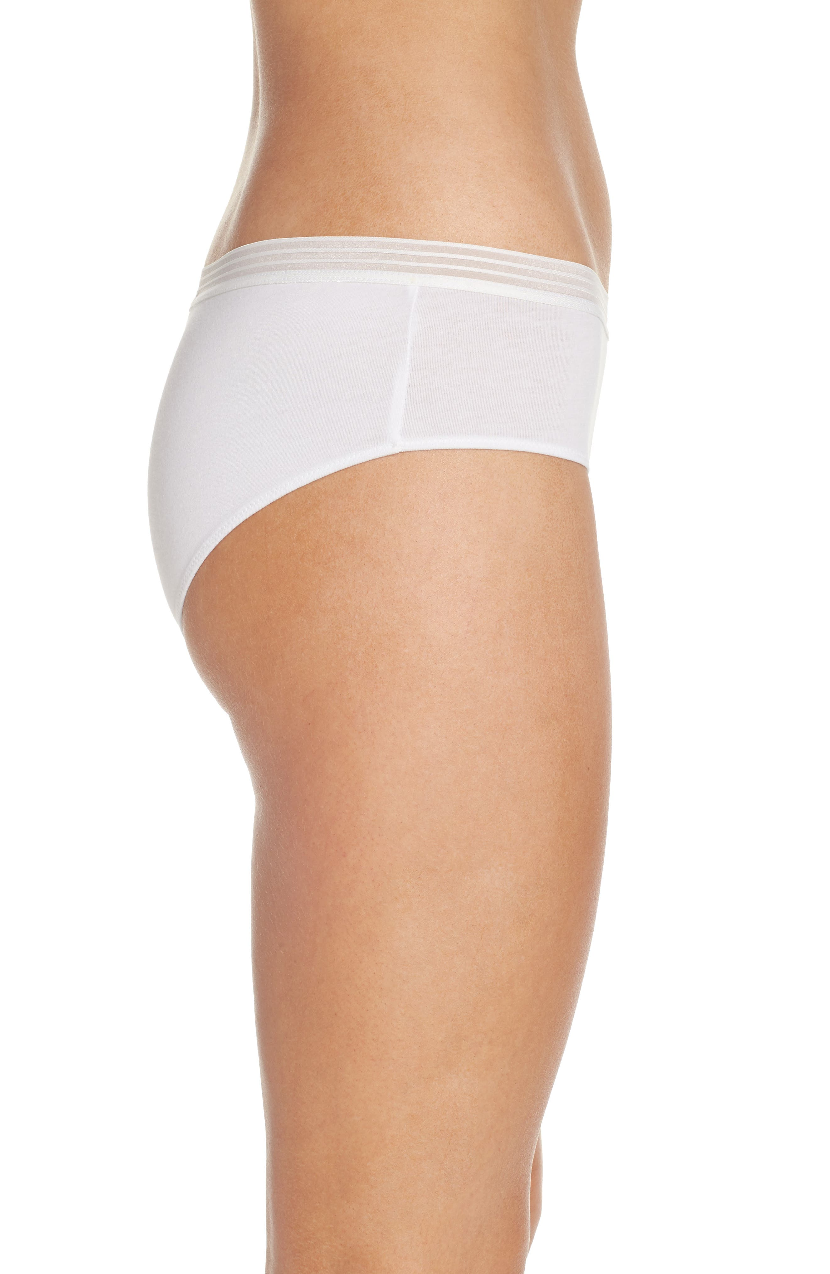Sienna Hipster Briefs,                             Alternate thumbnail 3, color,                             White