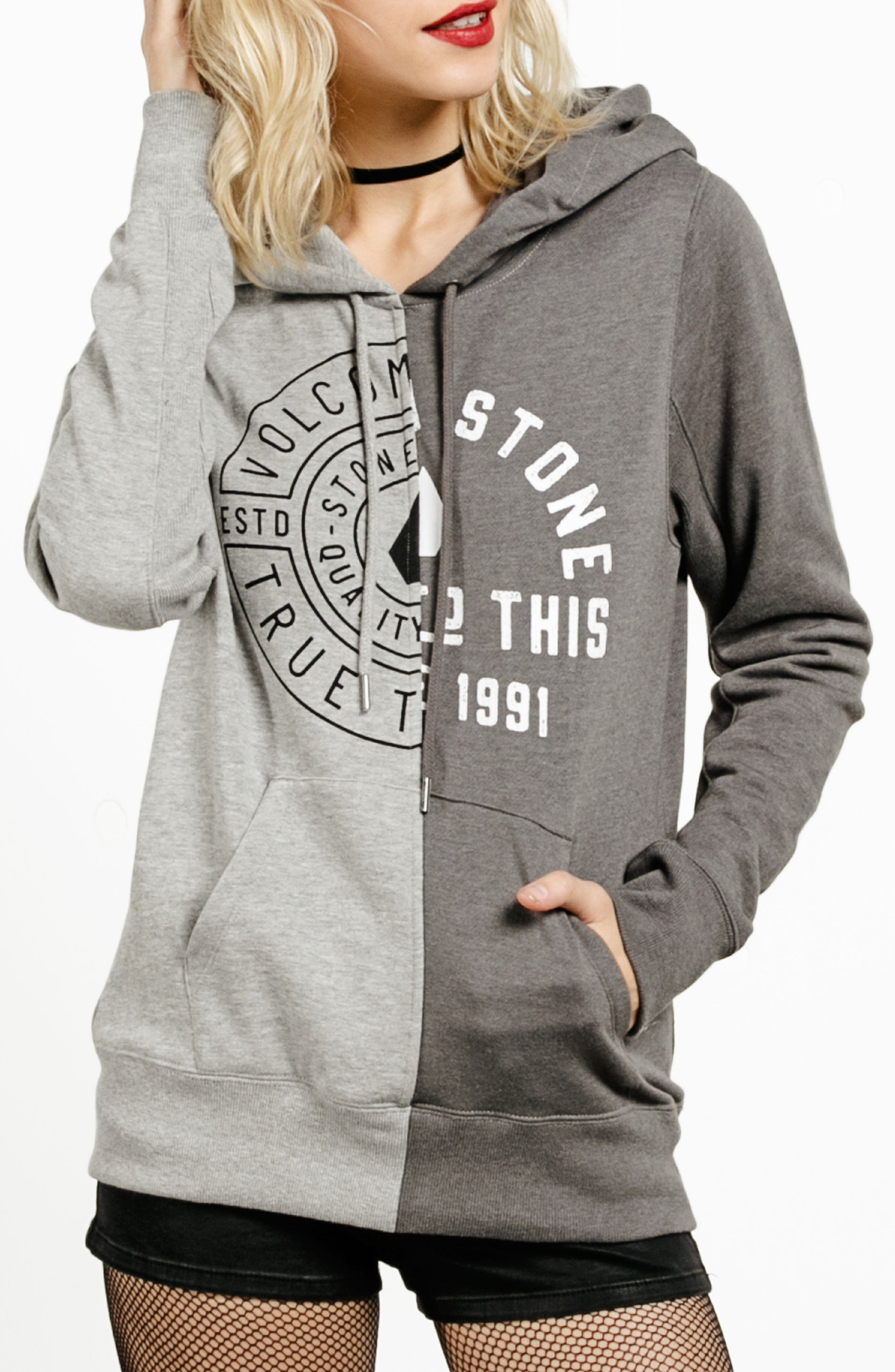Slippin' Up Hoodie,                         Main,                         color, Heather Grey