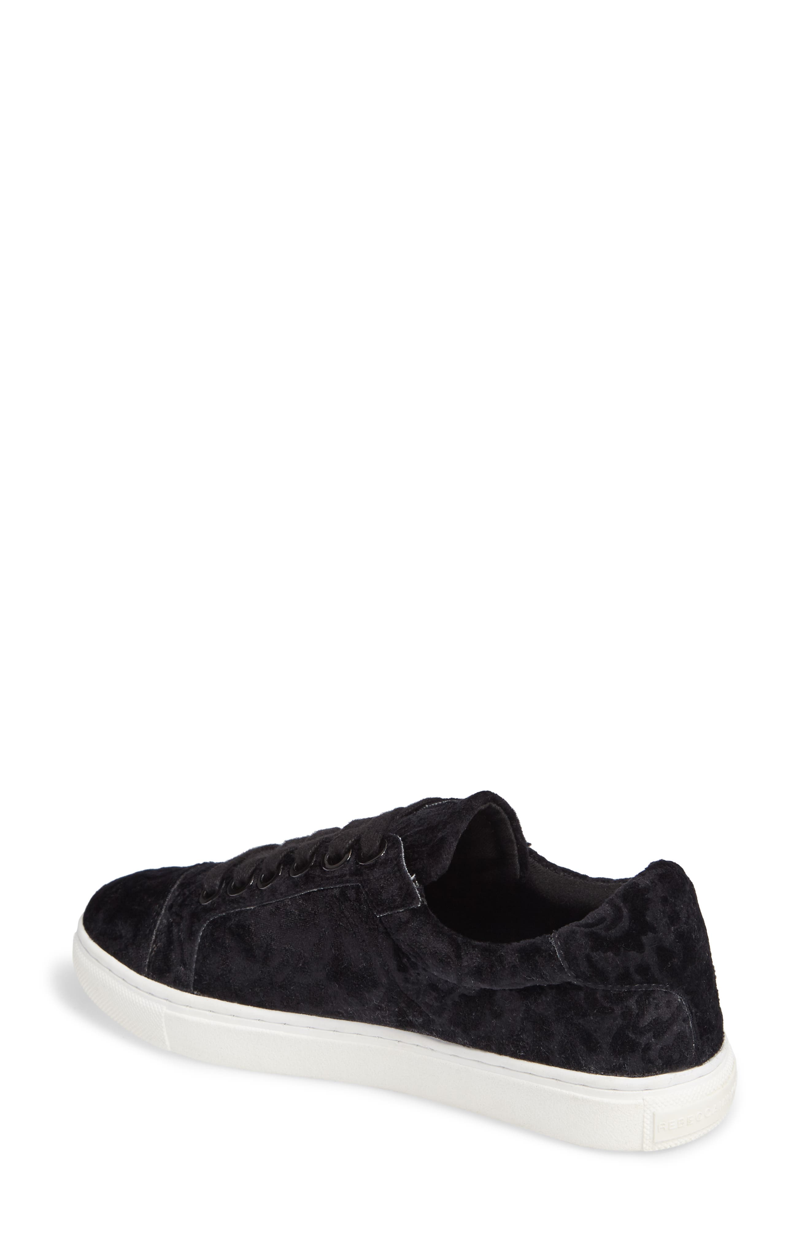 Bleecker Too Sneaker,                             Alternate thumbnail 2, color,                             Black Floral Velvet