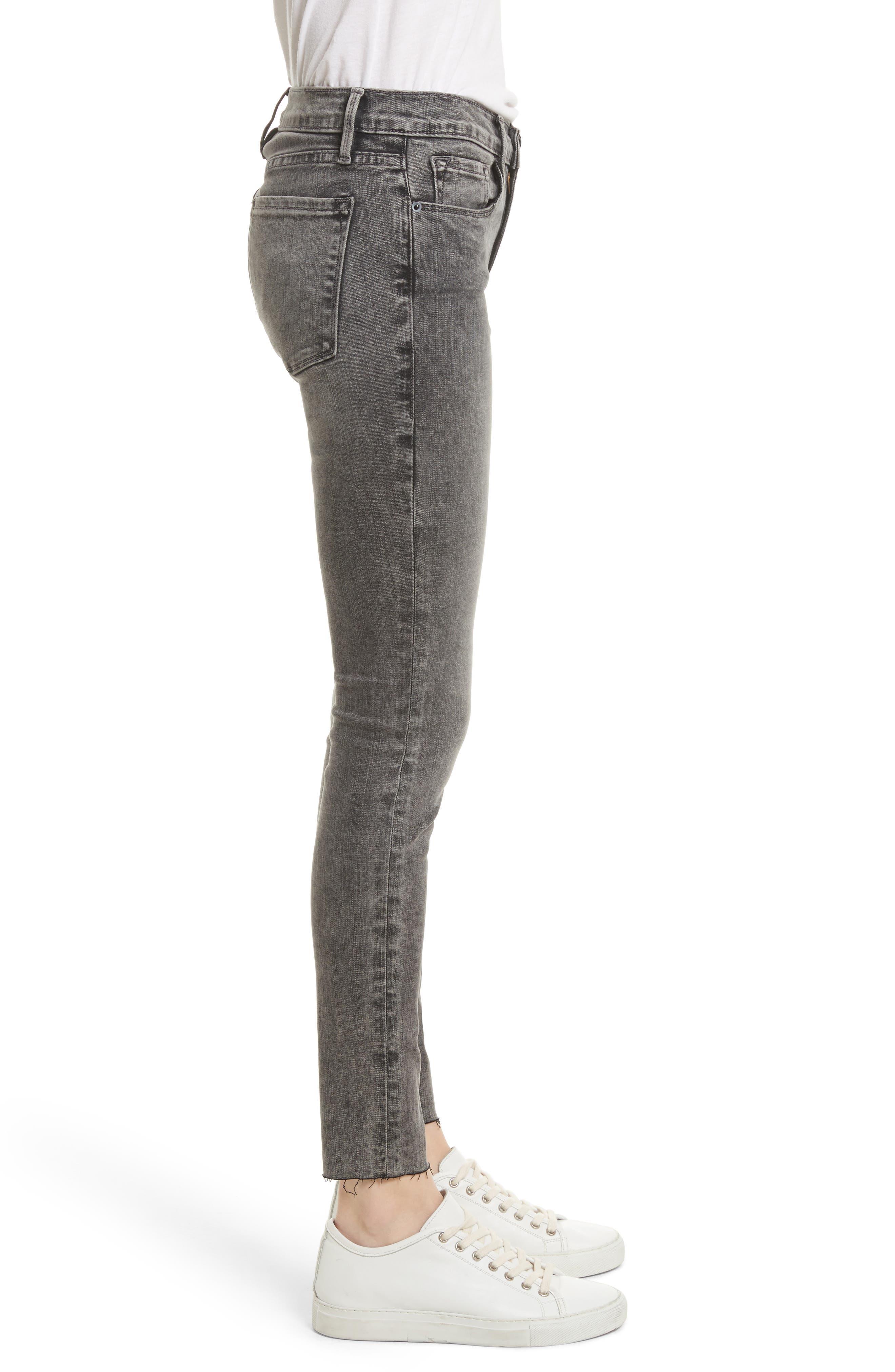 Alternate Image 4  - FRAME Le Skinny de Jeanne Raw Edge Skinny Jeans (Bennington)