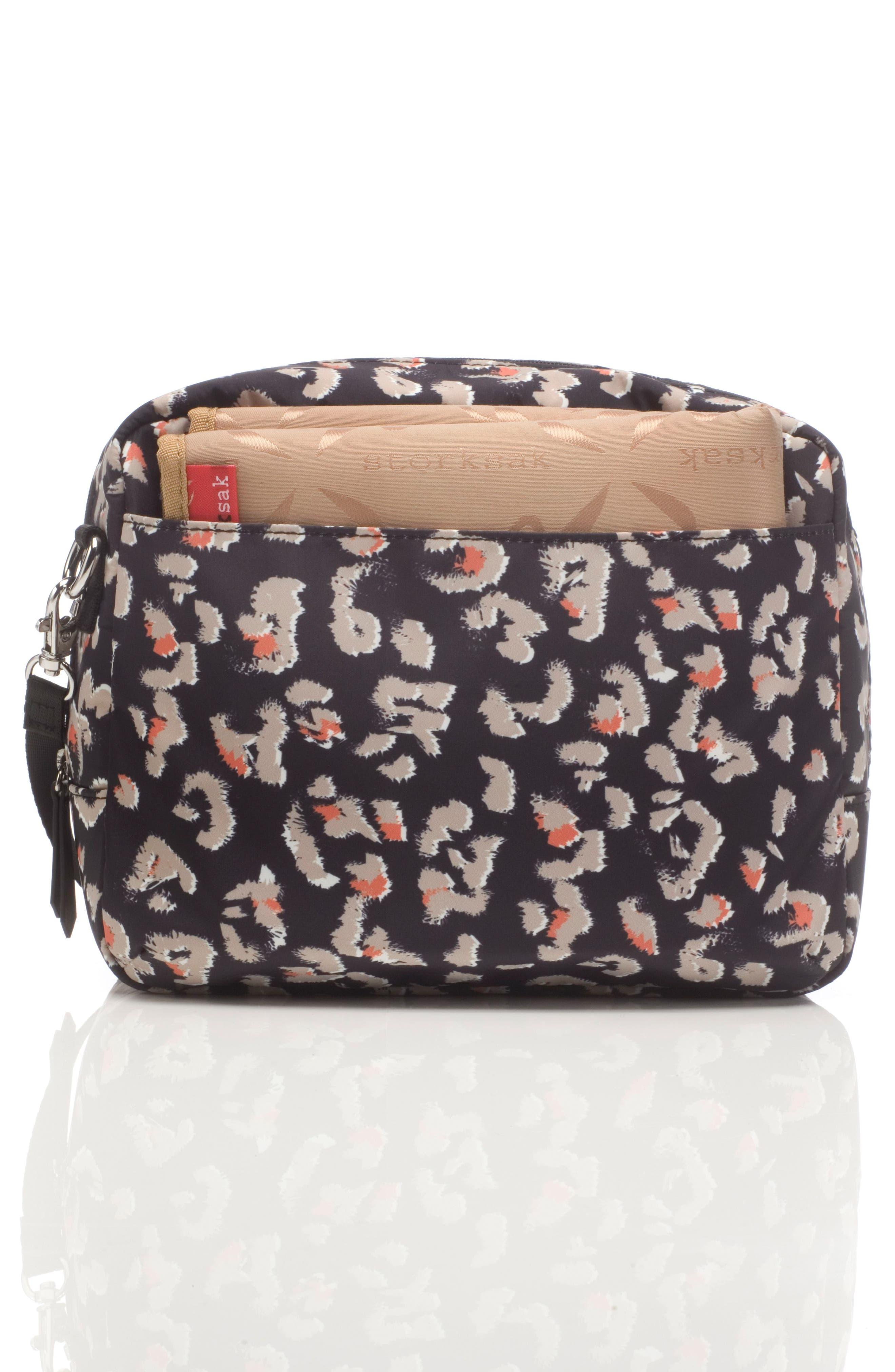 Mini Fix Crossbody Diaper Bag,                             Alternate thumbnail 6, color,                             Leopard