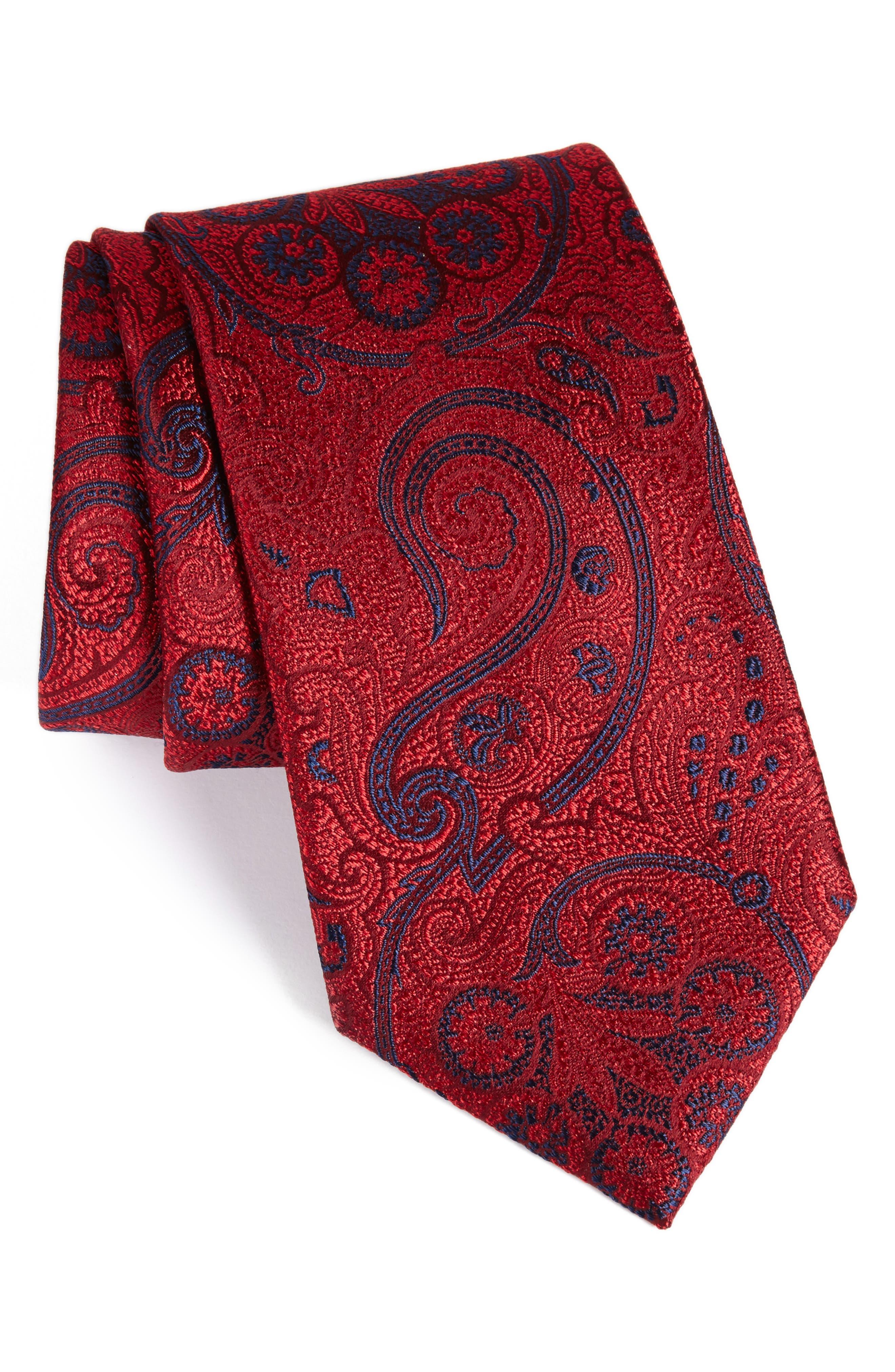 NORDSTROM MENS SHOP Provincial Paisley Silk Tie