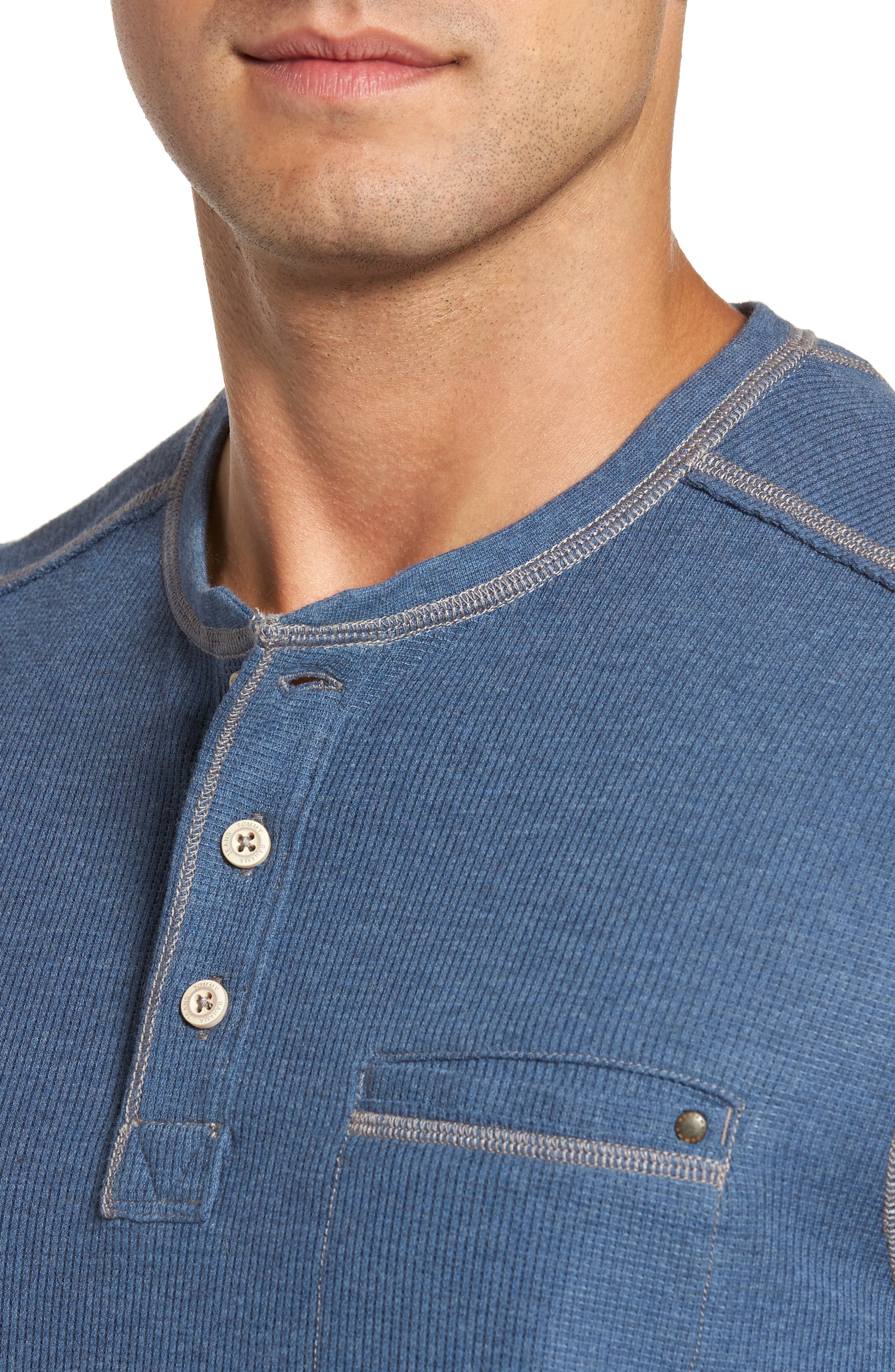 Island Thermal Henley,                             Alternate thumbnail 4, color,                             Cadet Heather
