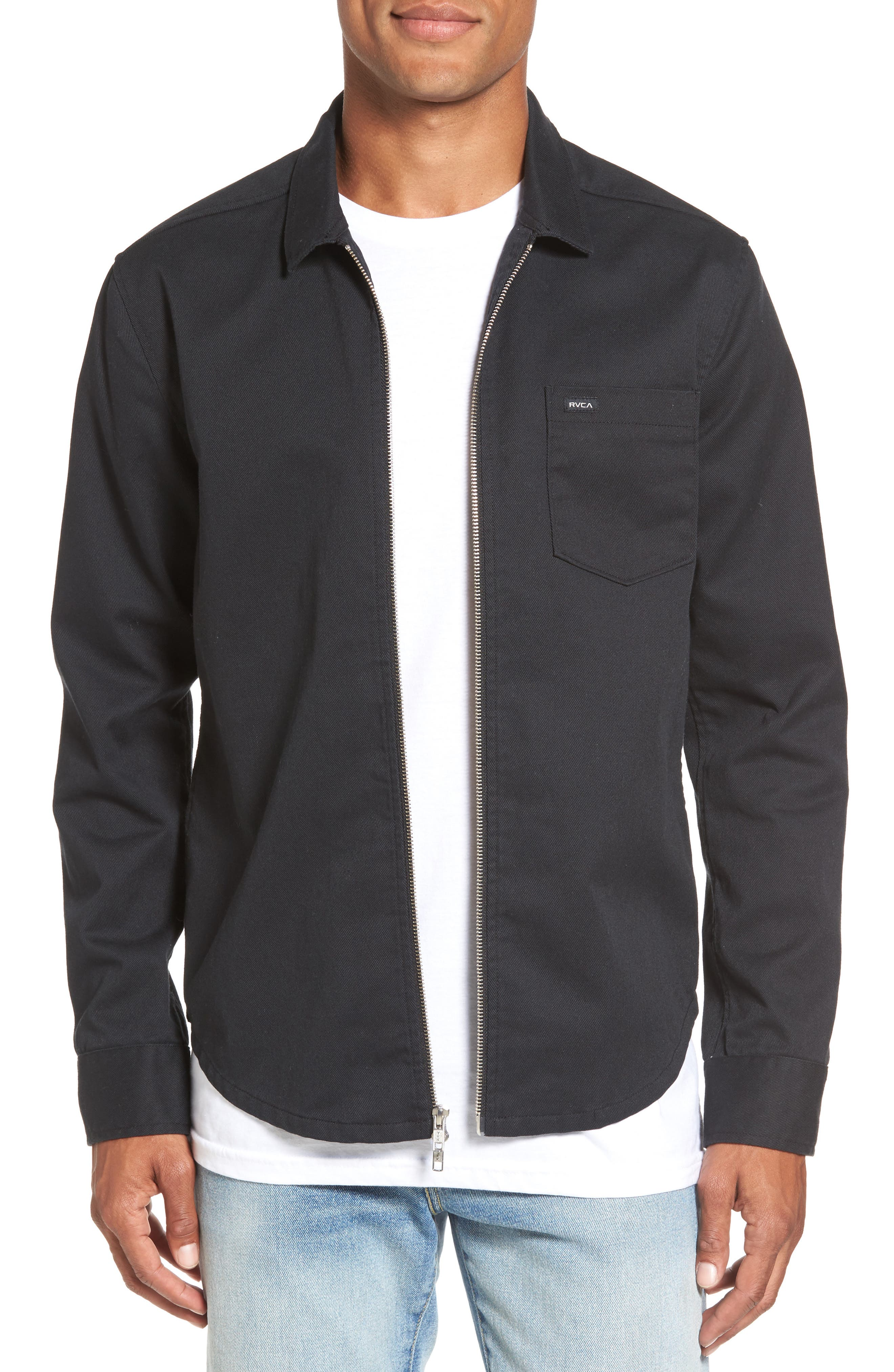 Rex Shirt Jacket,                         Main,                         color, Black