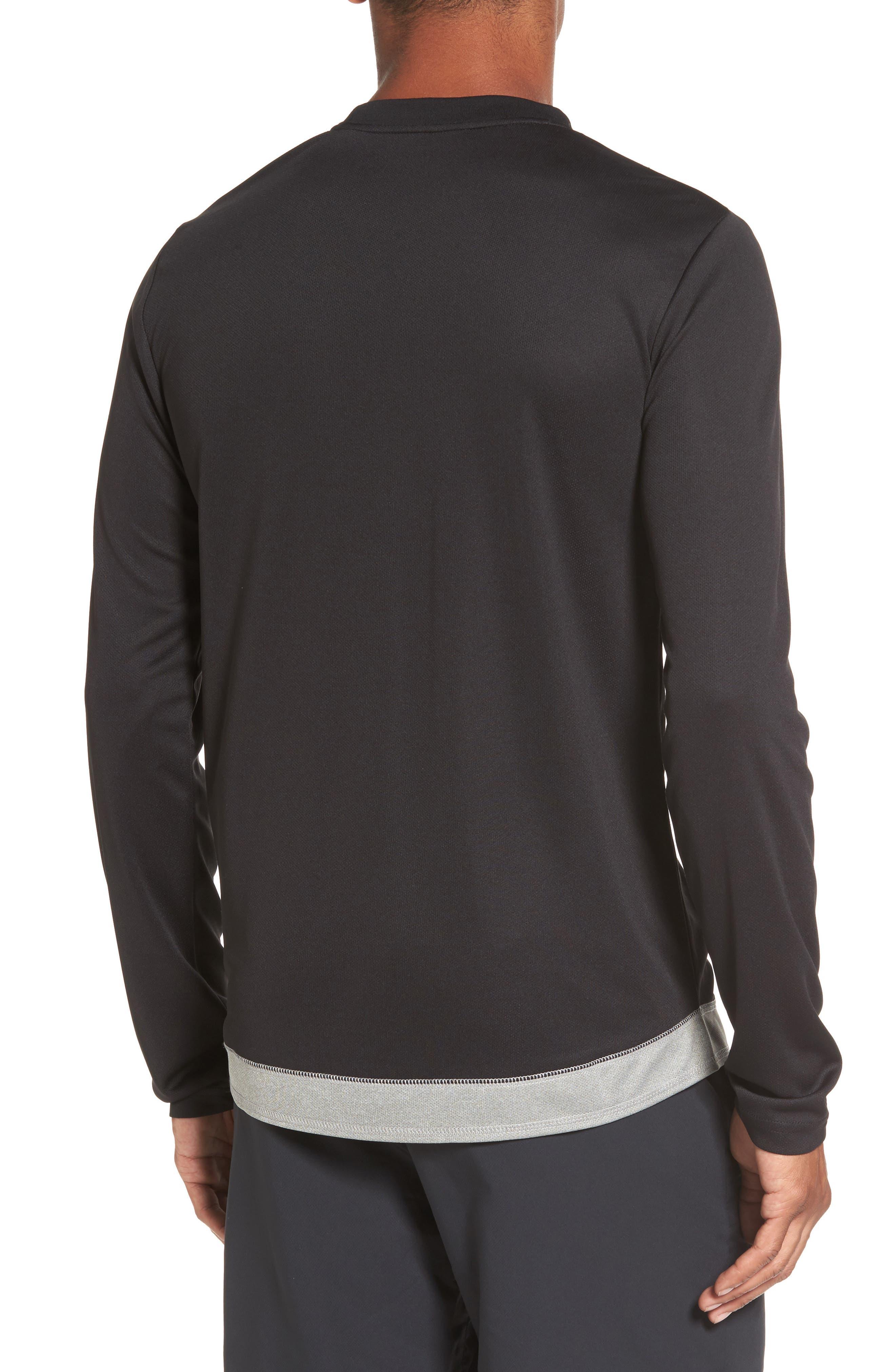 Runner Mesh Long Sleeve T-Shirt,                             Alternate thumbnail 2, color,                             Black