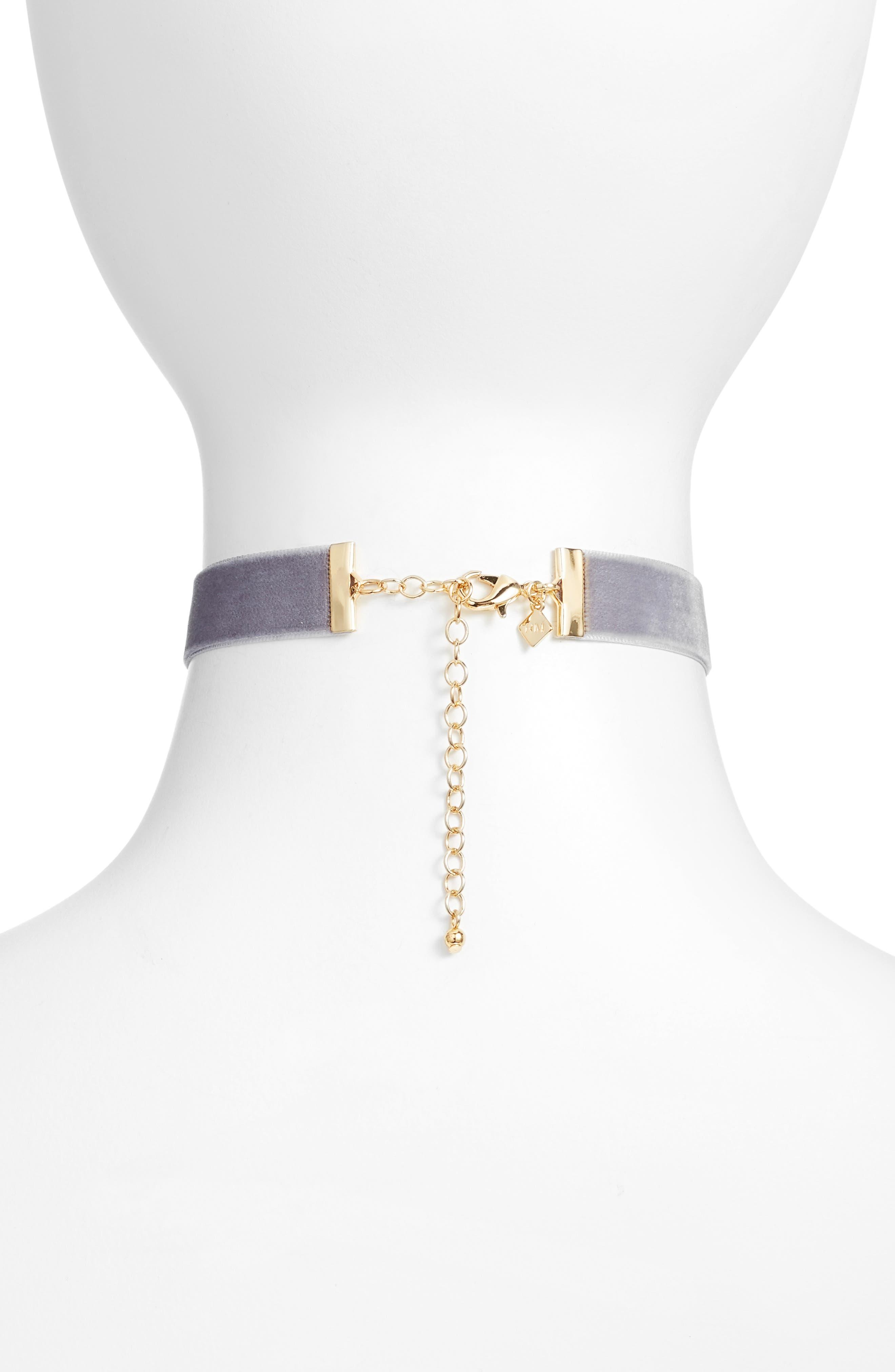 Alternate Image 2  - Rebecca Minkoff Velvet Choker Necklace