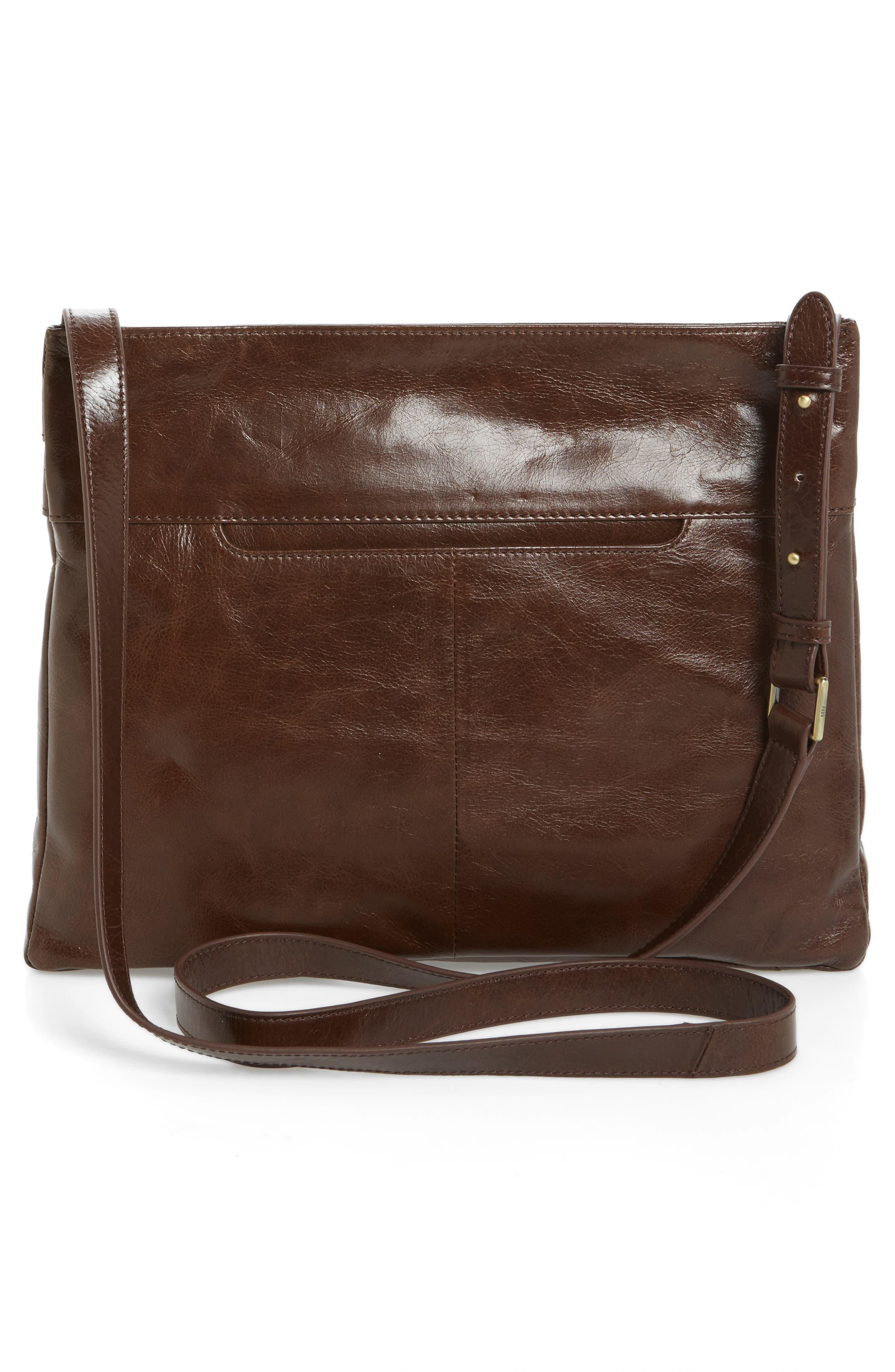 Larkin Leather Messenger Bag,                             Alternate thumbnail 2, color,                             Espresso