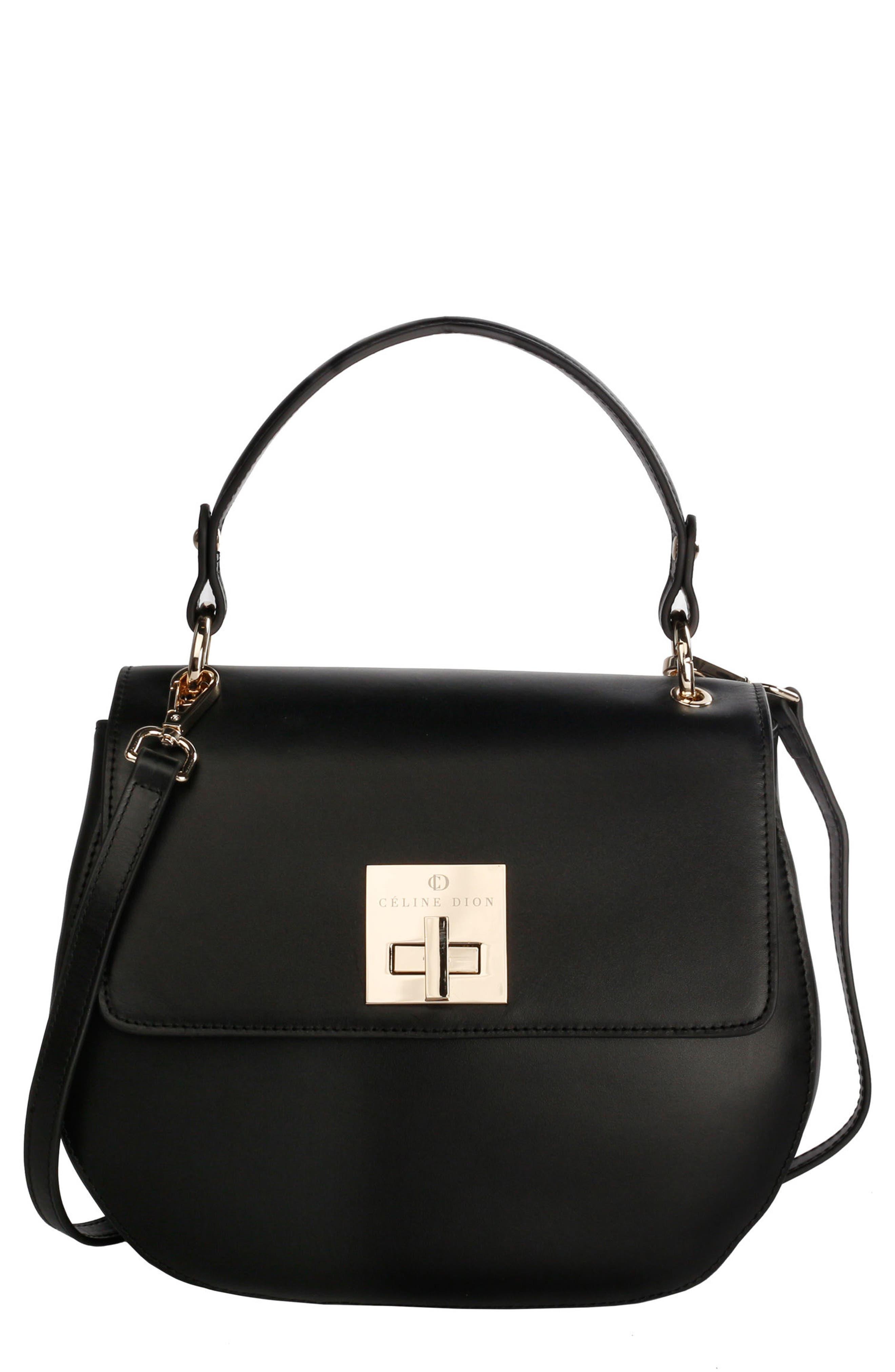 Céline Dion Minuet Leather Top Handle Satchel