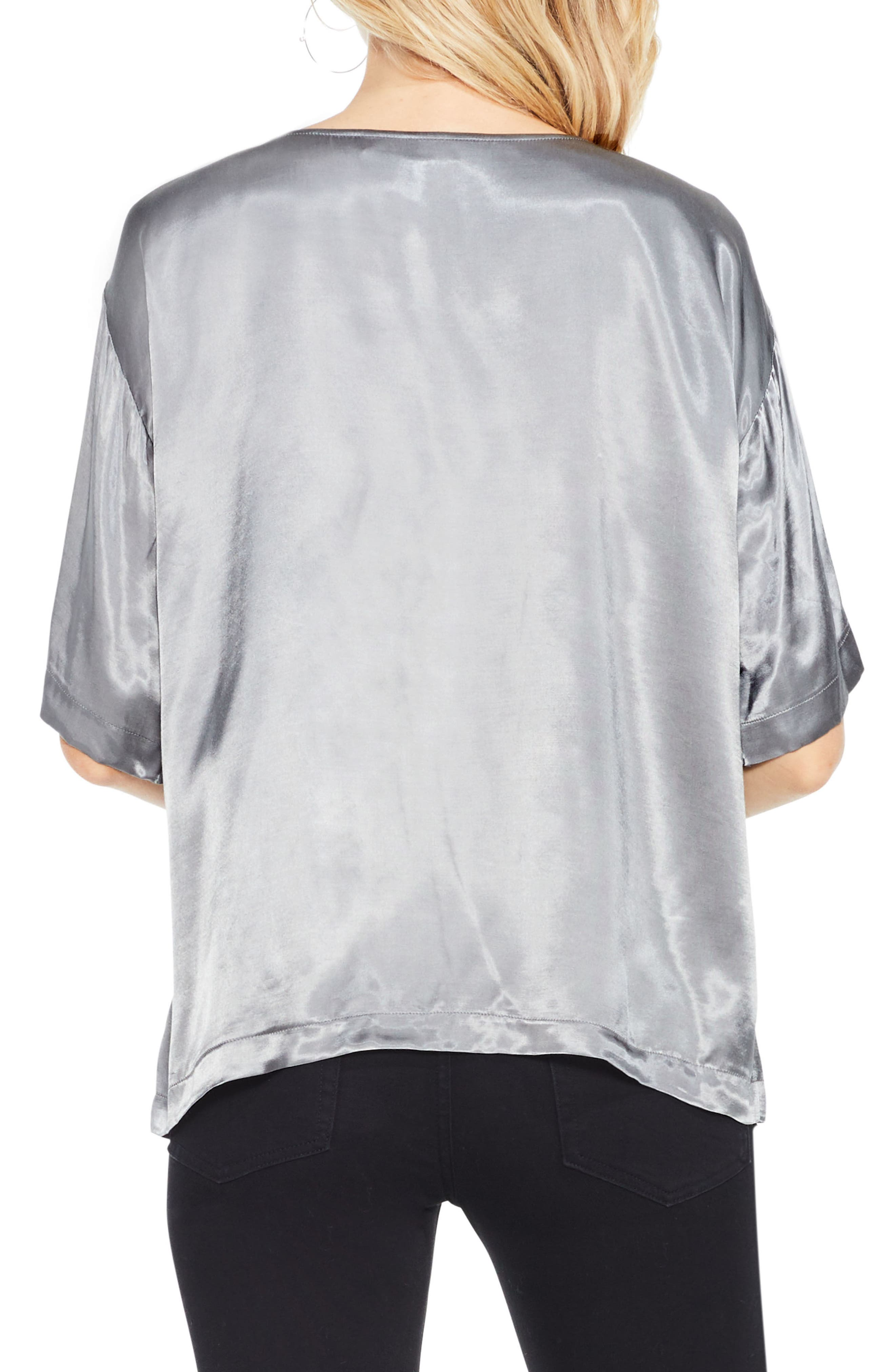 Alternate Image 3  - Two by Vince Camuto Satin Tee