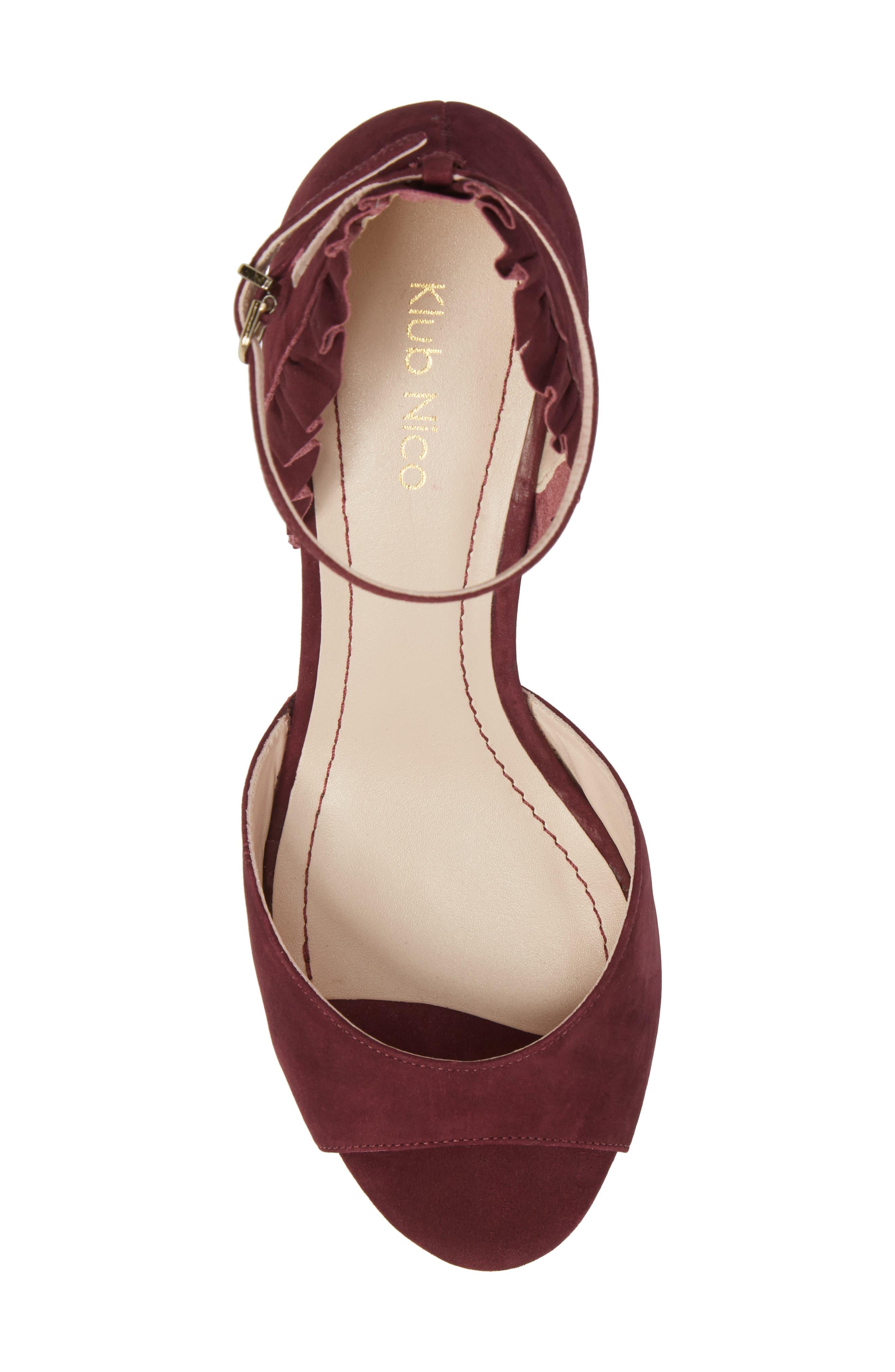 Alisa d'Orsay Sandal,                             Alternate thumbnail 5, color,                             Wine Nubuck Leather