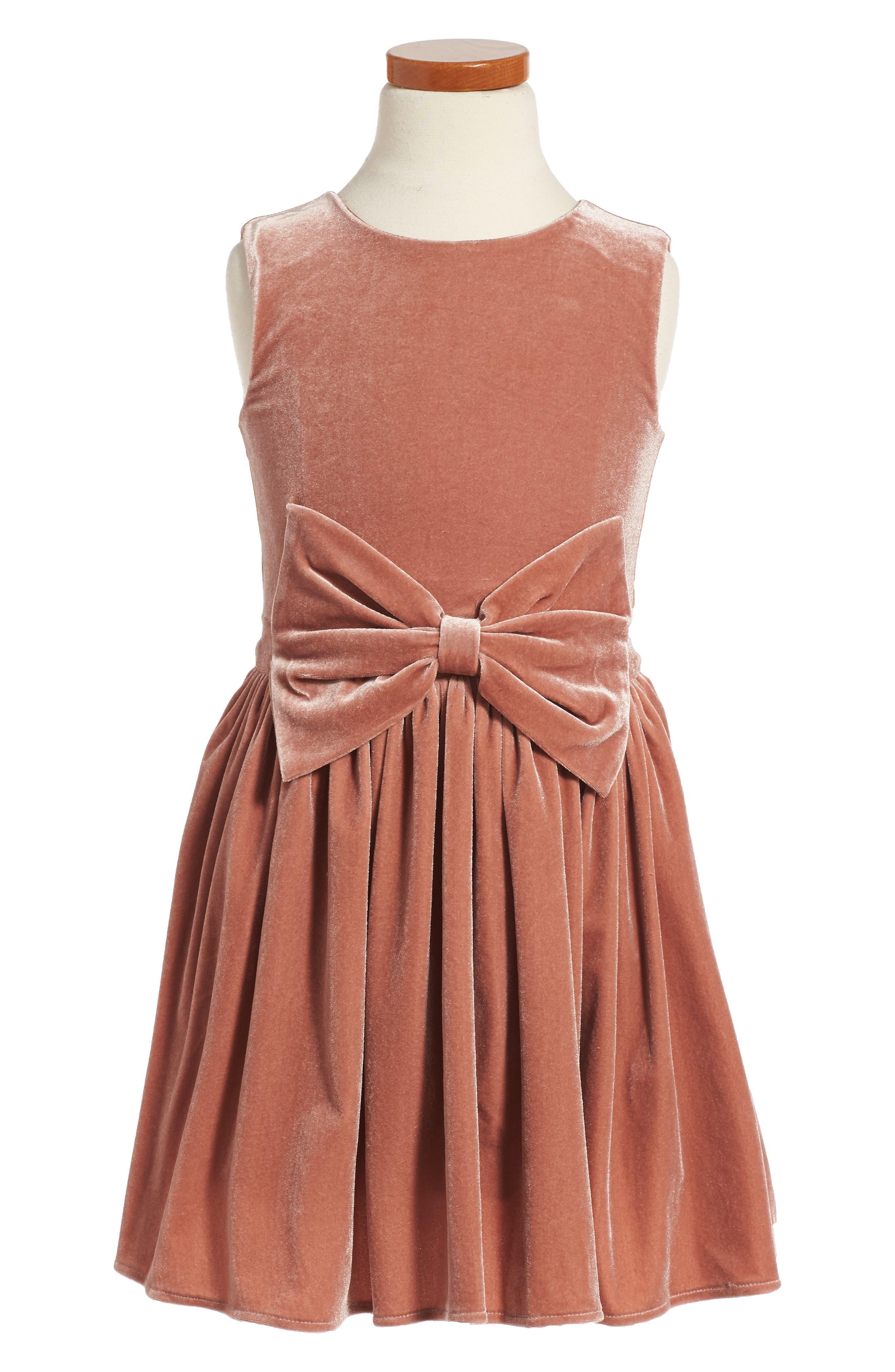 Bardot Junior Sleeveless Velvet Dress (Toddler Girls & Little Girls)