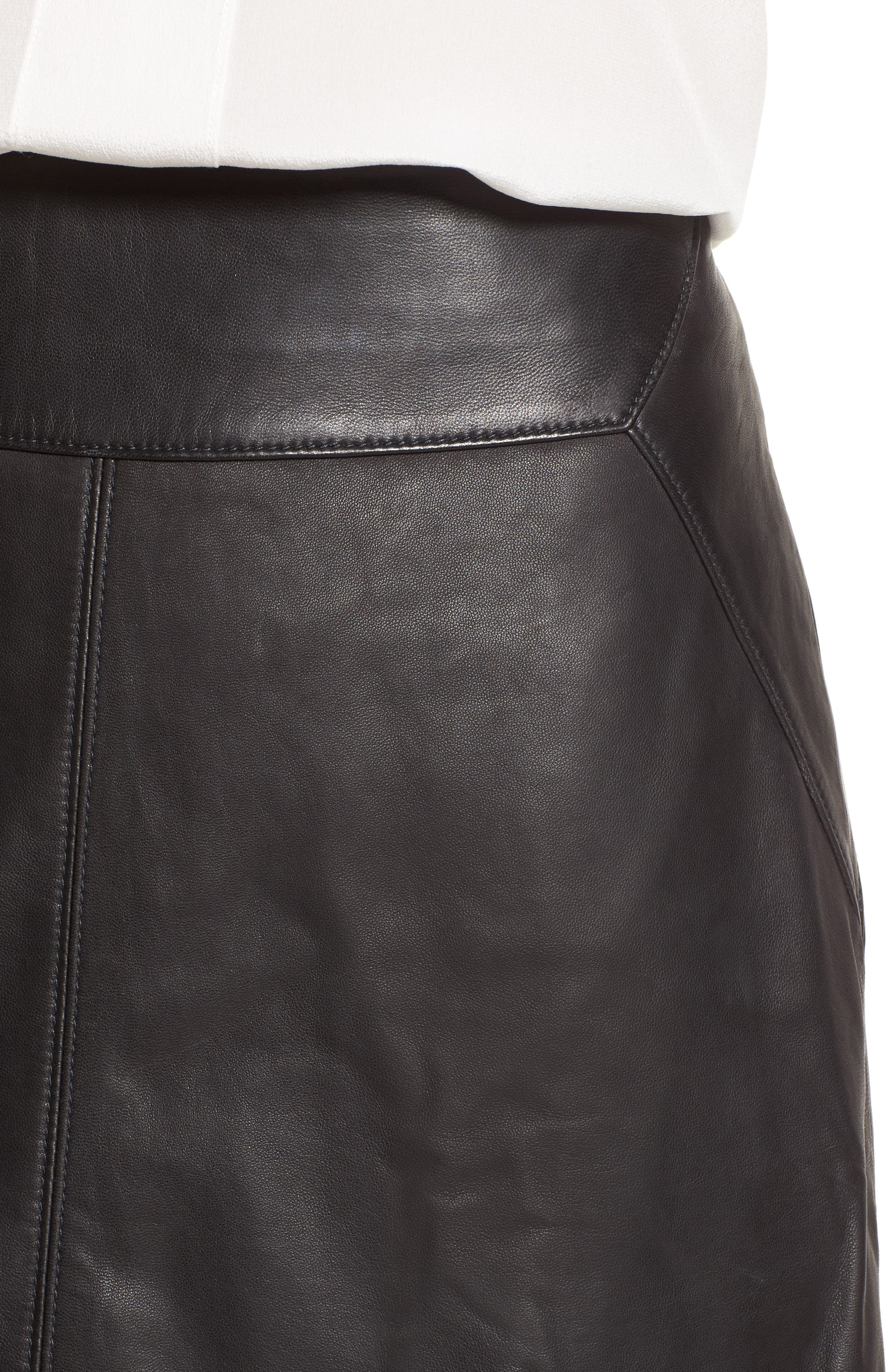 Alternate Image 5  - Halogen® Leather Skirt