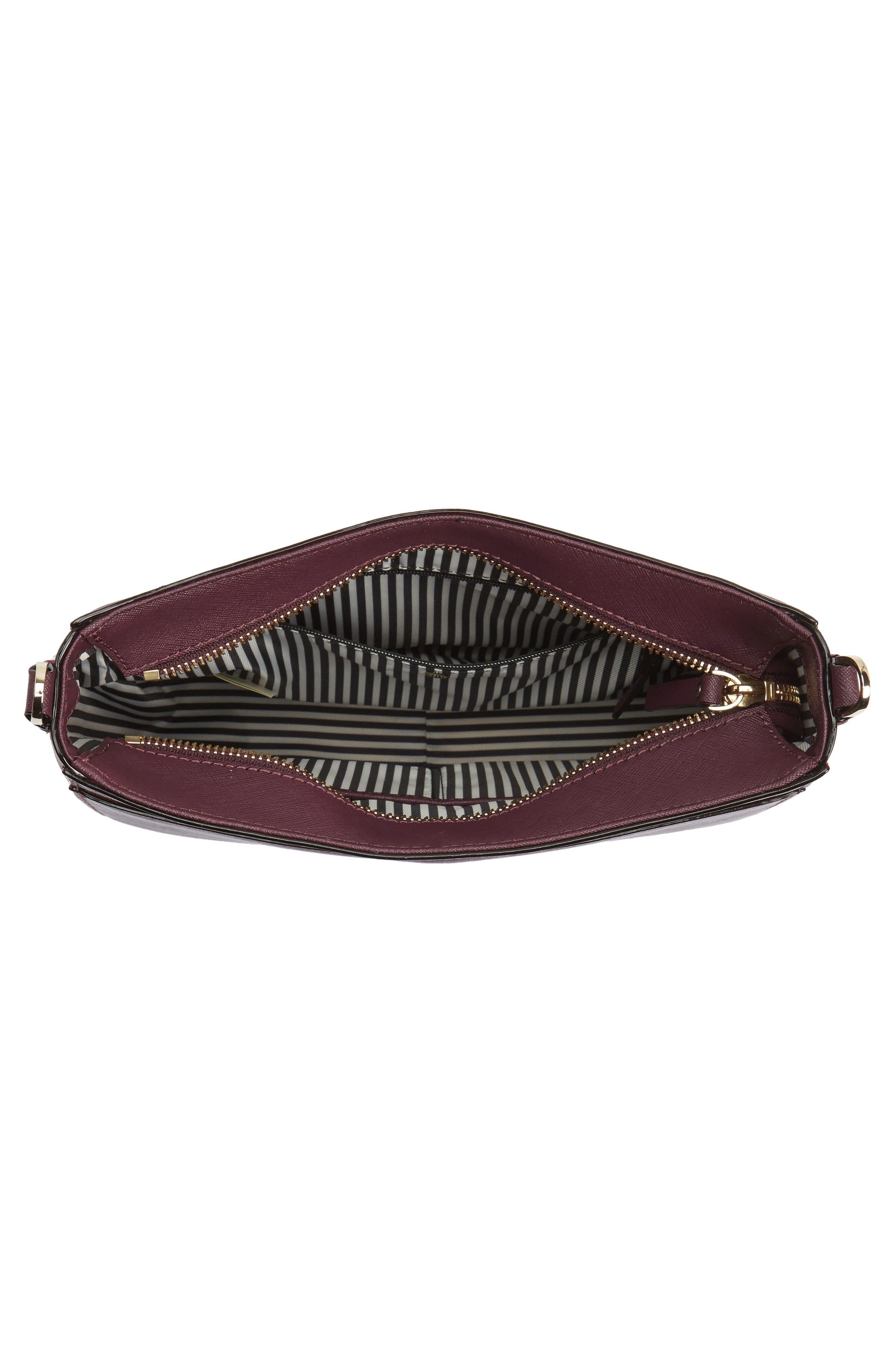 cameron street - robin leather crossbody bag,                             Alternate thumbnail 3, color,                             Deep Plum