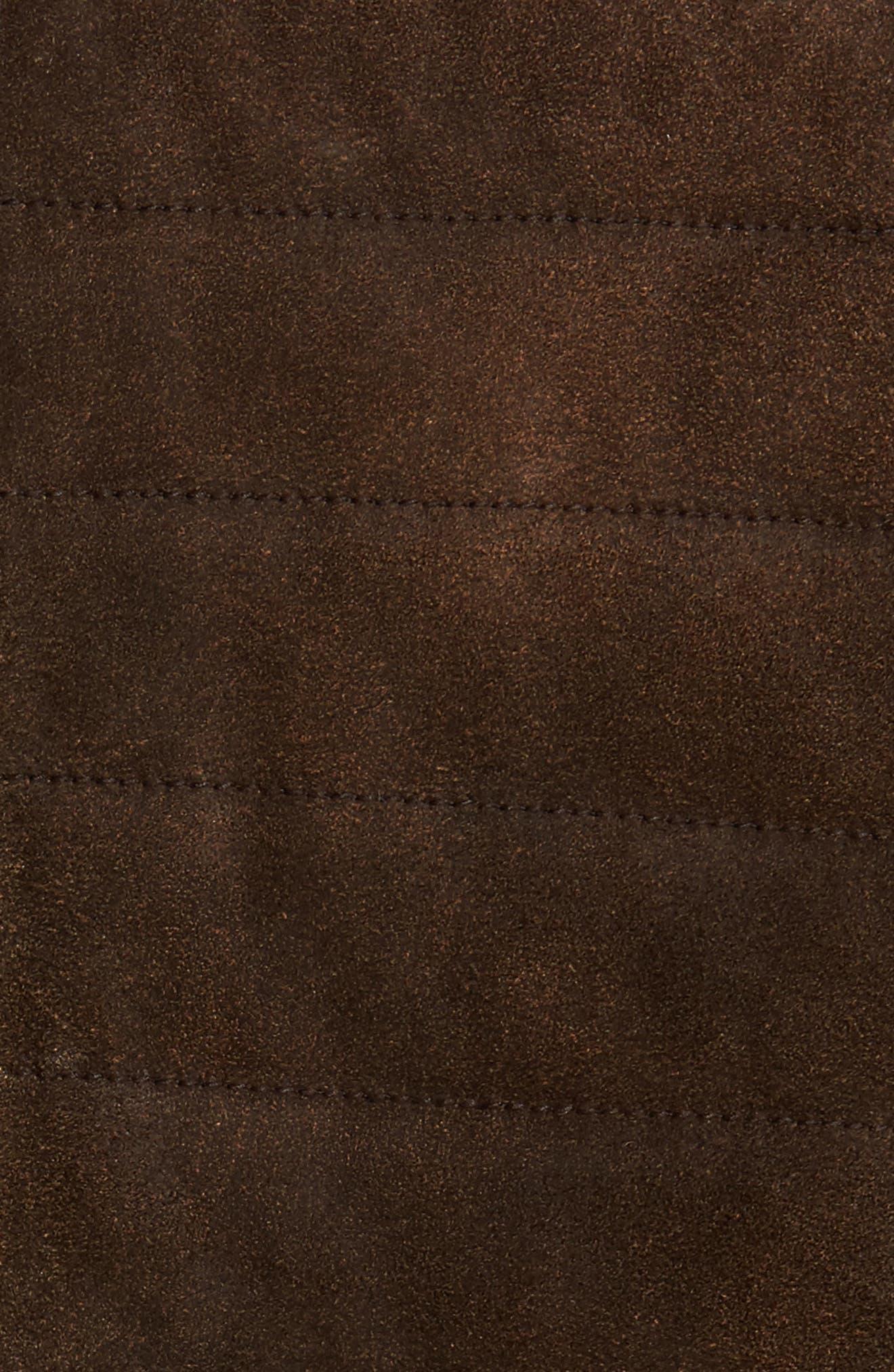 Alternate Image 5  - FLYNT Genuine Shearling Trim Leather Bomber Jacket