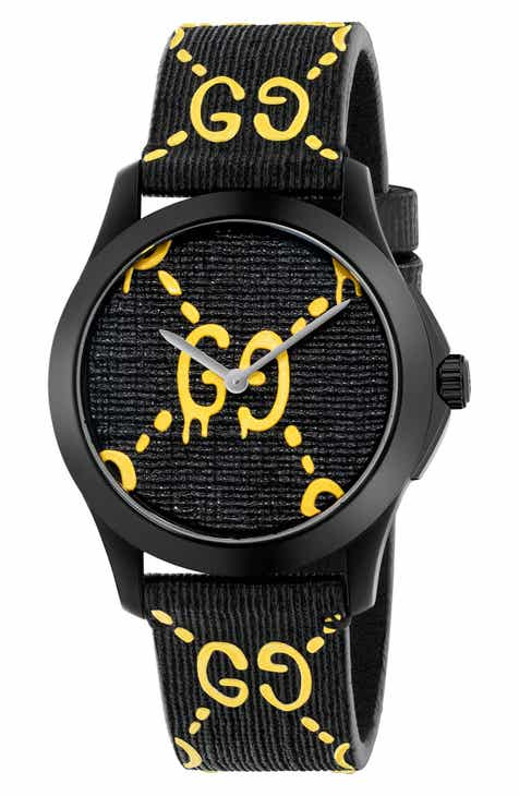15e650d2161 Gucci GG Rubber Strap Watch