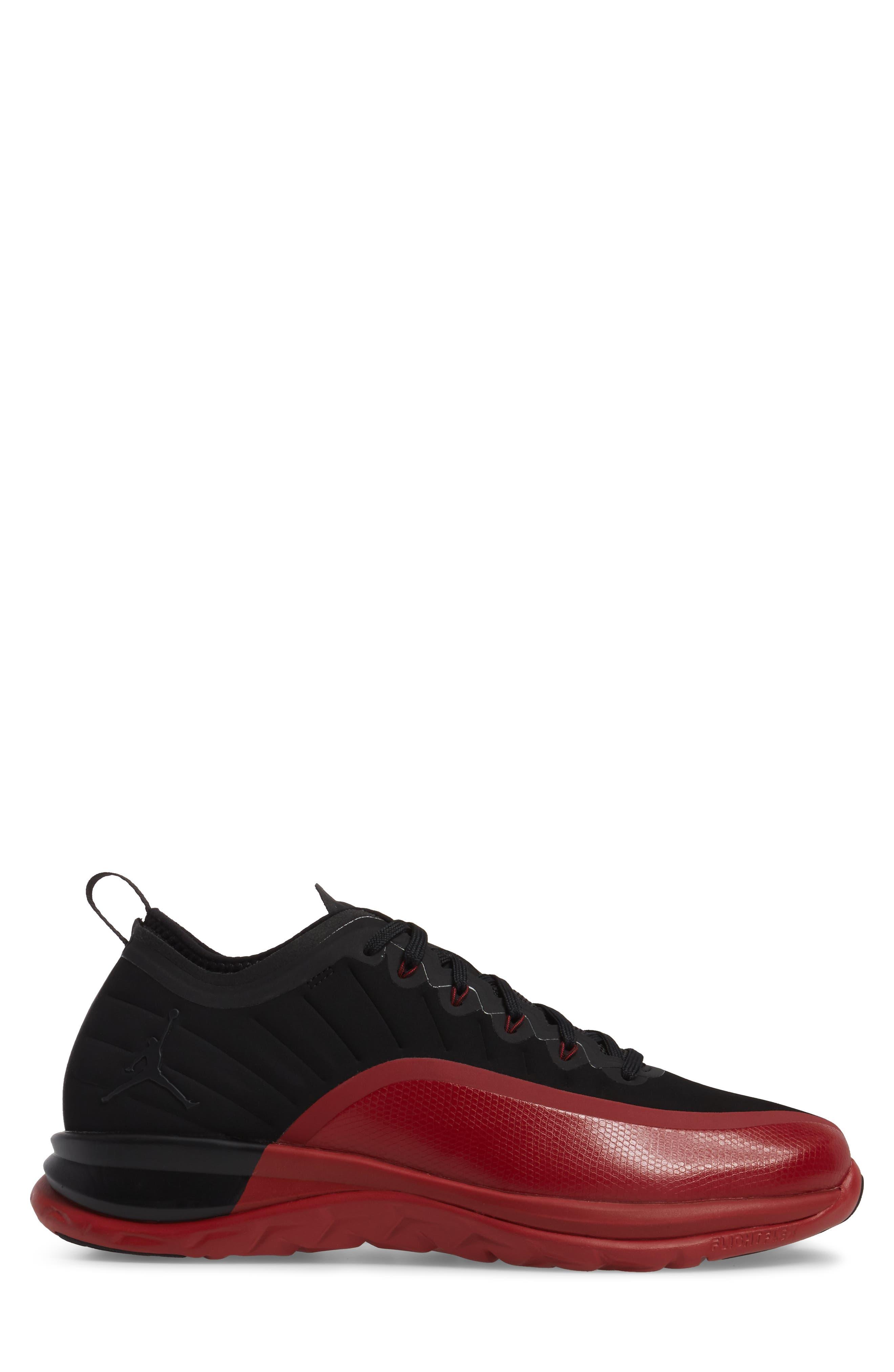 Jordan Trainer Prime Sneaker,                             Alternate thumbnail 3, color,                             Black/ Black/ Gym Red