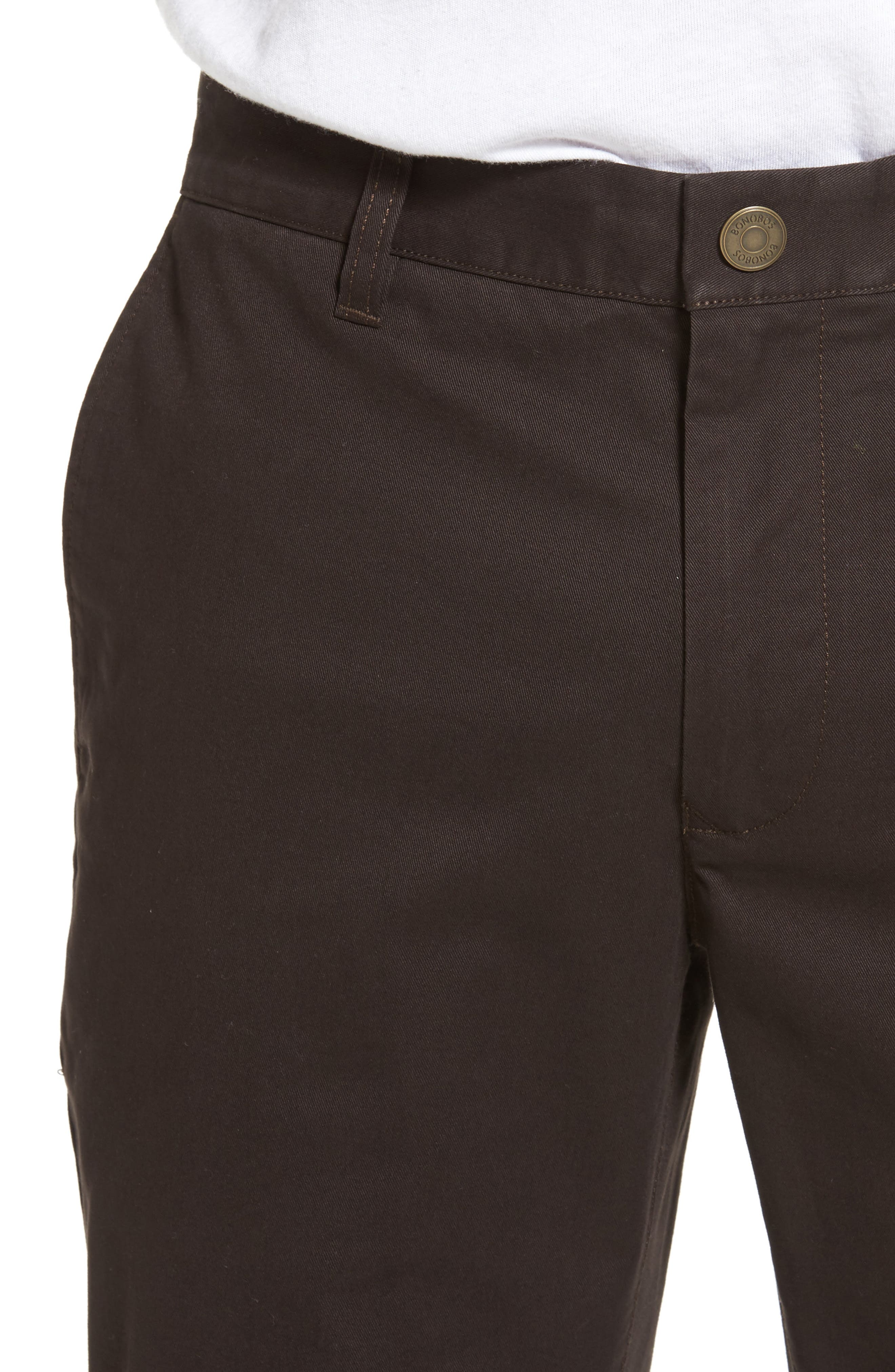 Tellis Modern Slim Twill Pants,                             Alternate thumbnail 4, color,                             2 Years Field Stone