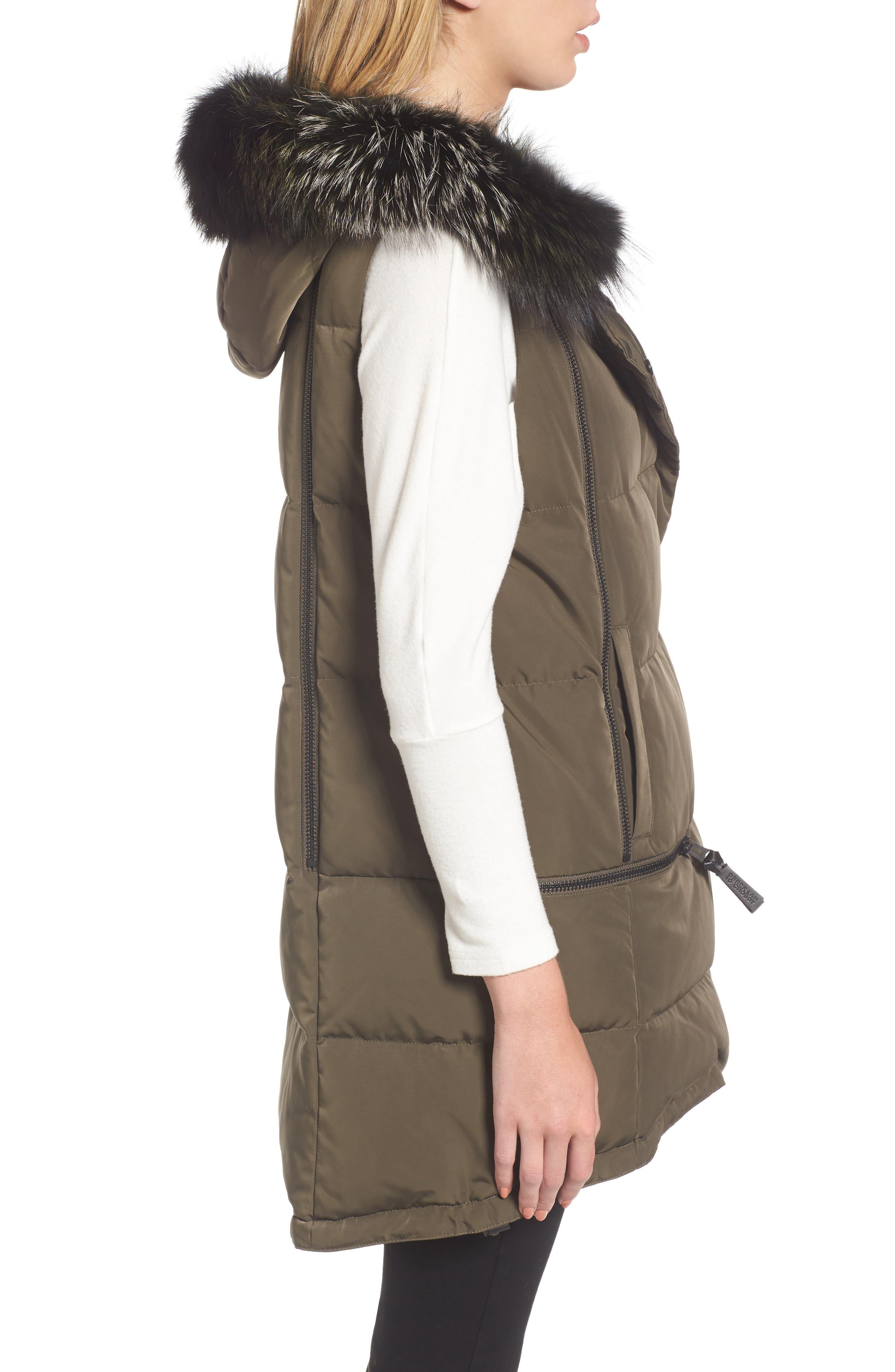 Alternate Image 3  - Derek Lam 10 Crosby Vest with Genuine Fox Fur