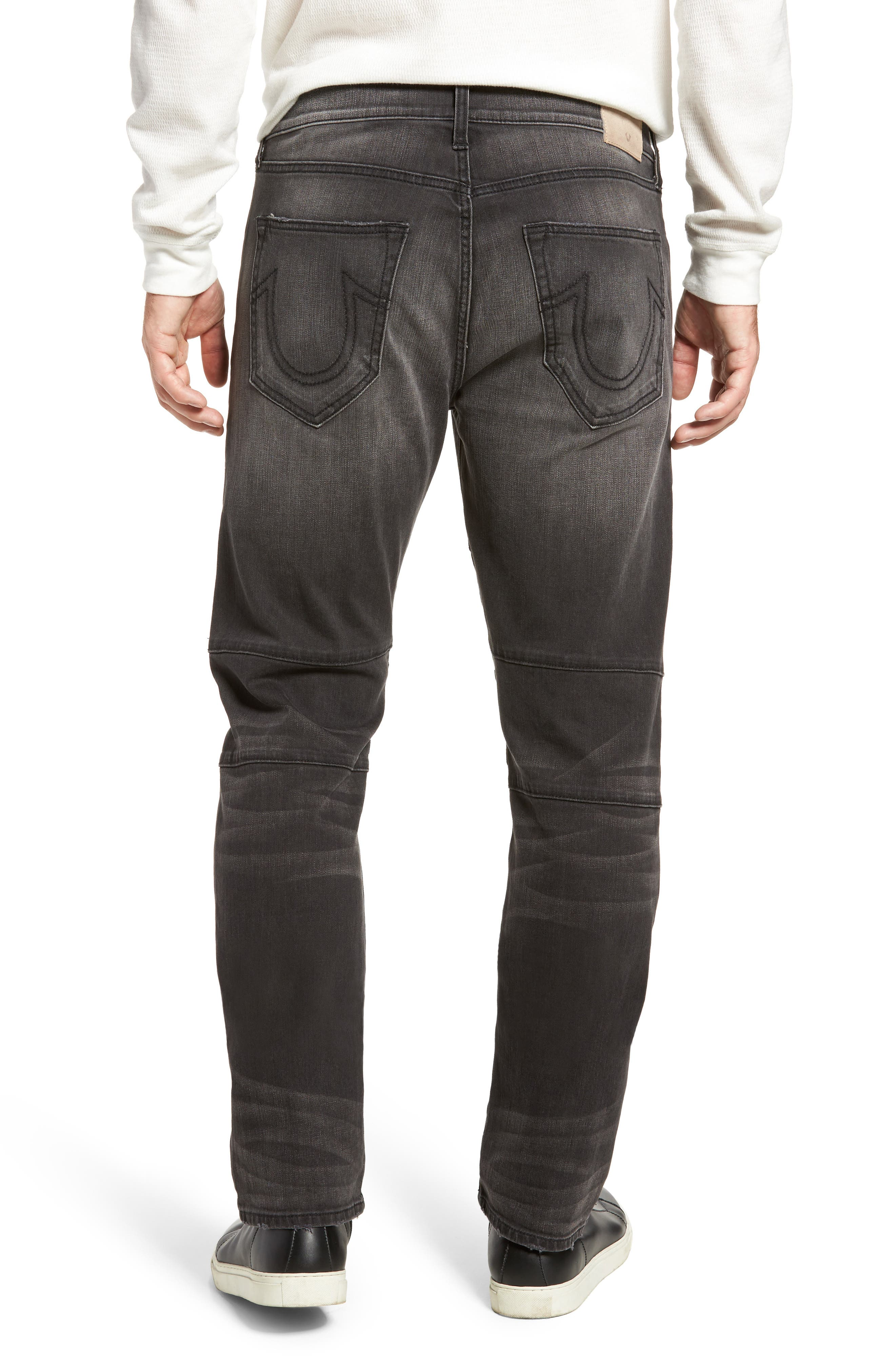 Alternate Image 2  - True Religion Brand Jeans Geno Straight Leg Jeans (Dark Rebel Race)