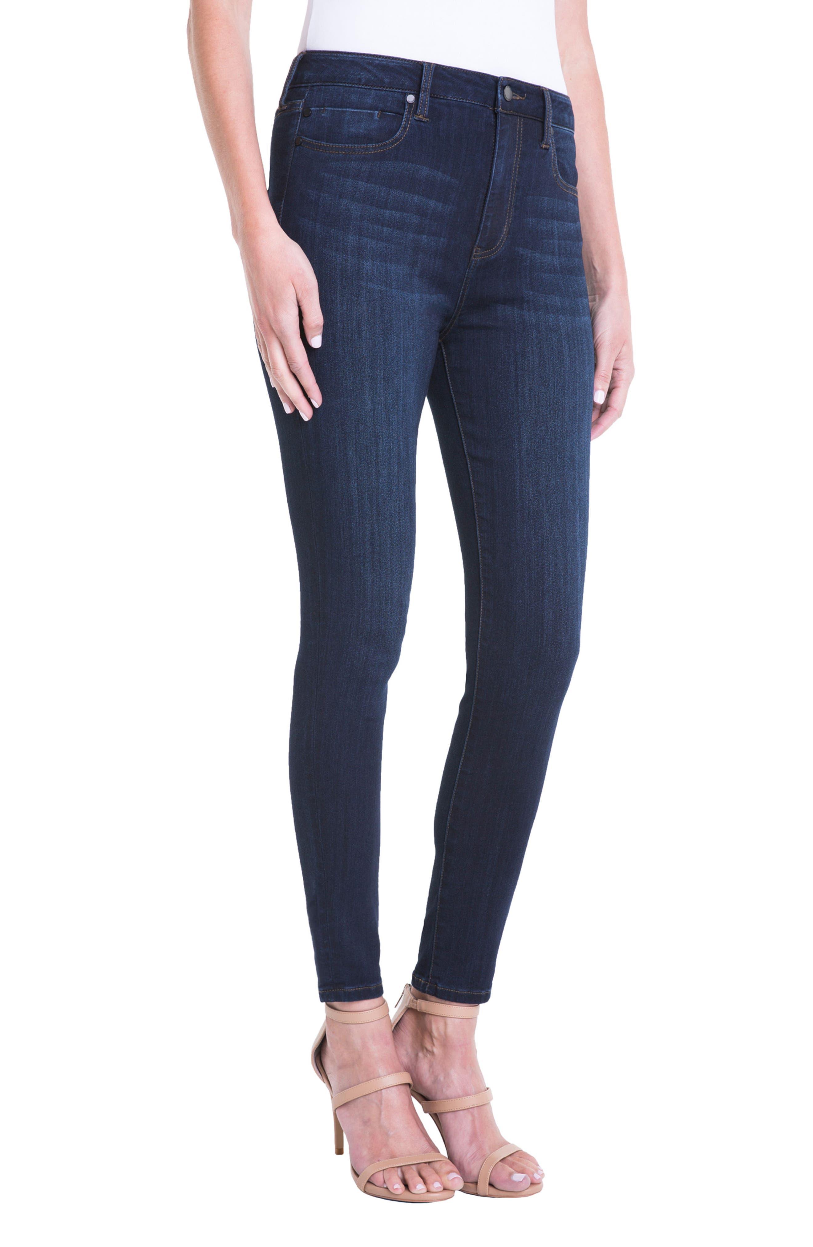 Jeans Company Bridget High Waist Skinny Jeans,                             Alternate thumbnail 3, color,                             Dunmore Dark