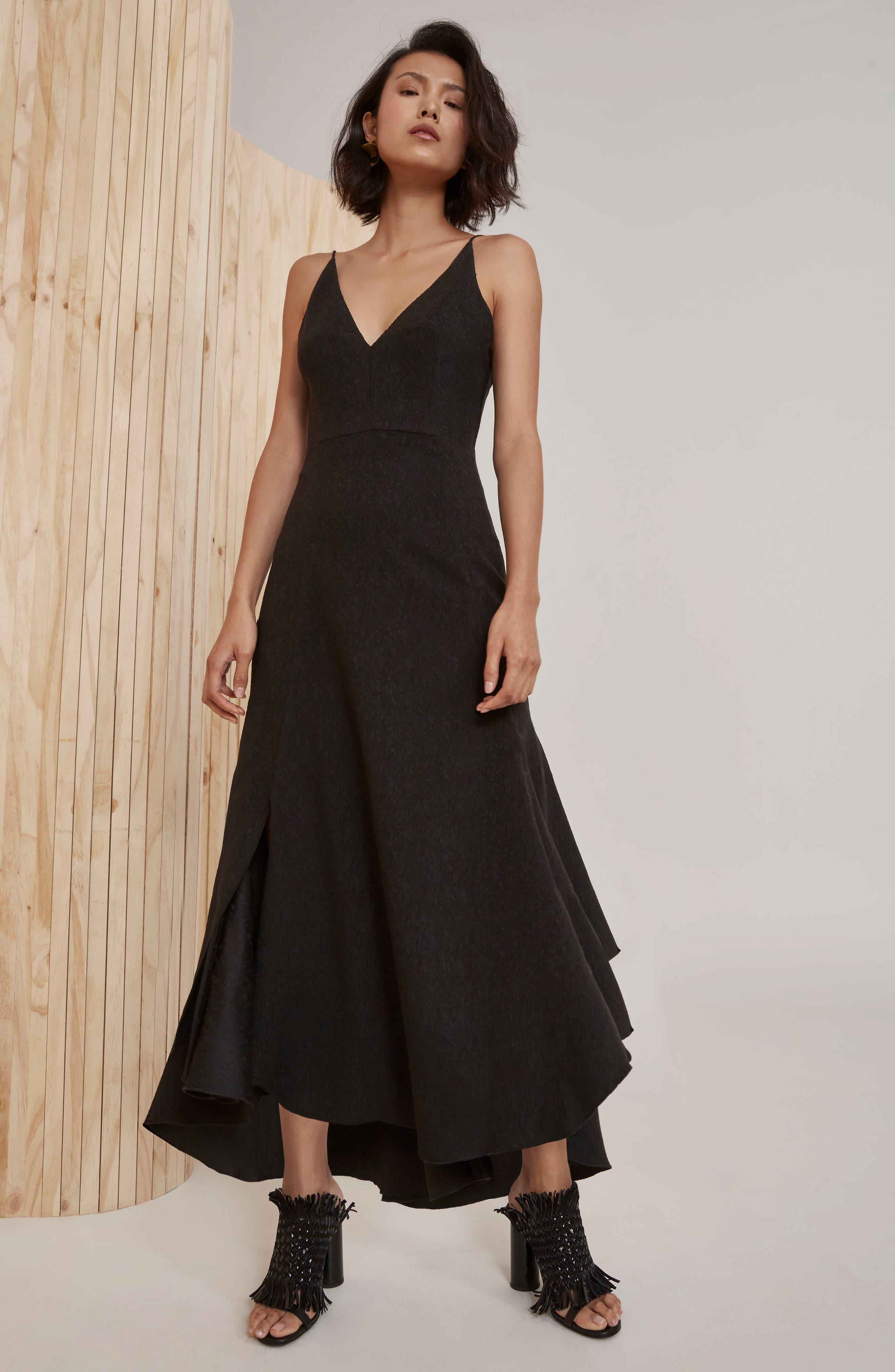 I Dream It Fit & Flare Dress,                             Alternate thumbnail 7, color,                             Black