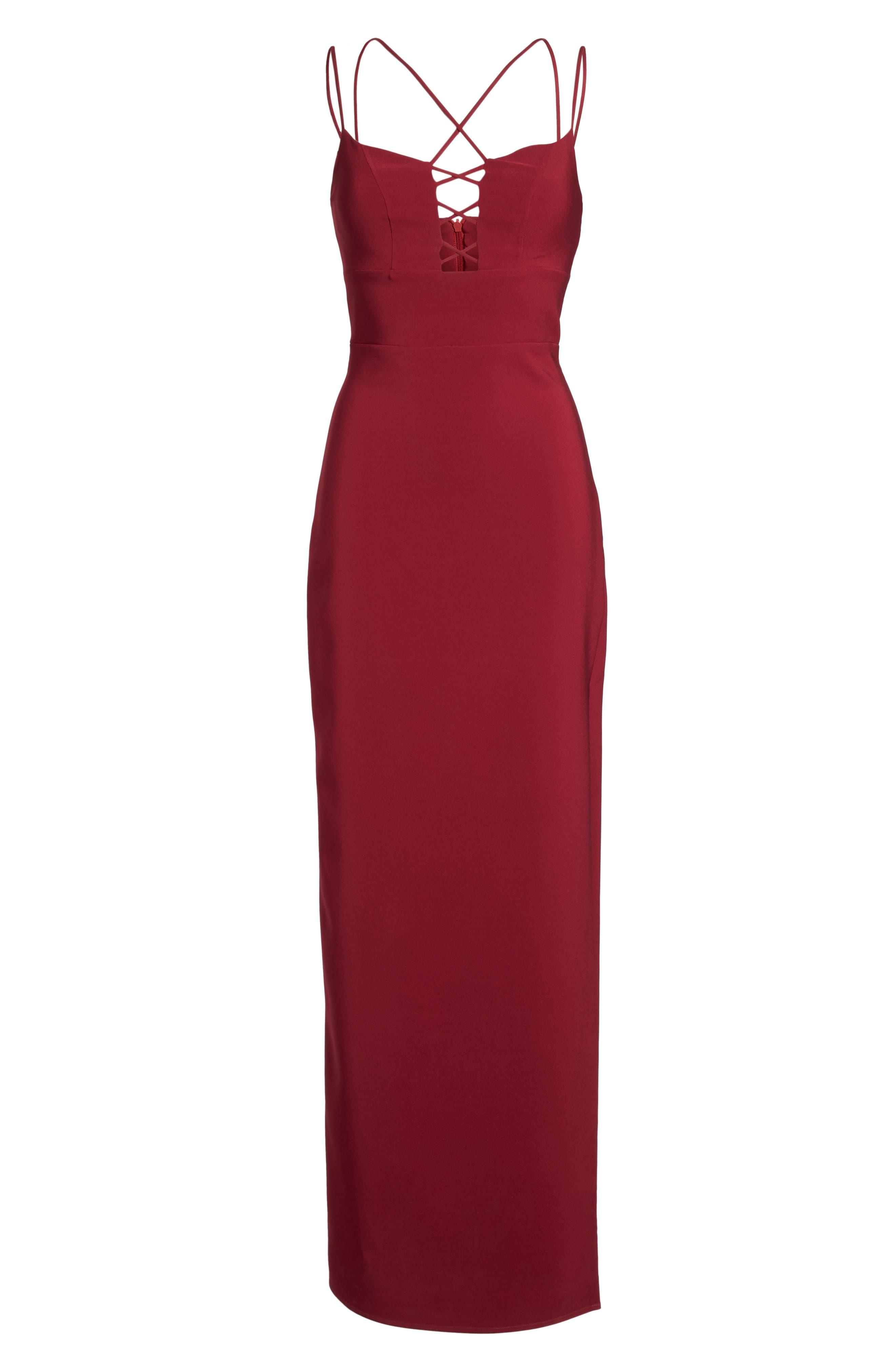 Starlett Gown,                             Alternate thumbnail 6, color,                             Wine
