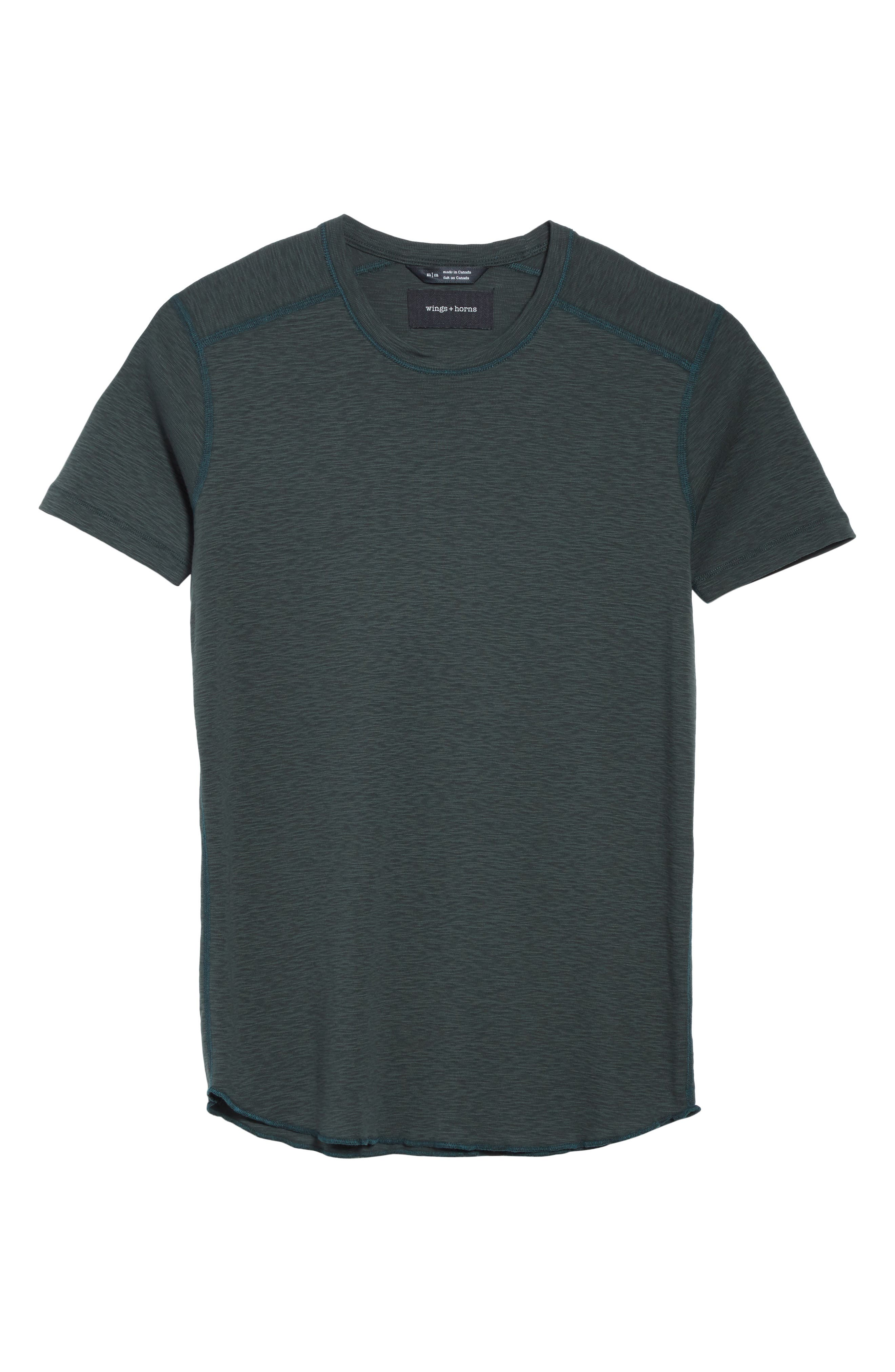 Alternate Image 6  - wings + horns Ribbed Slub Cotton T-Shirt