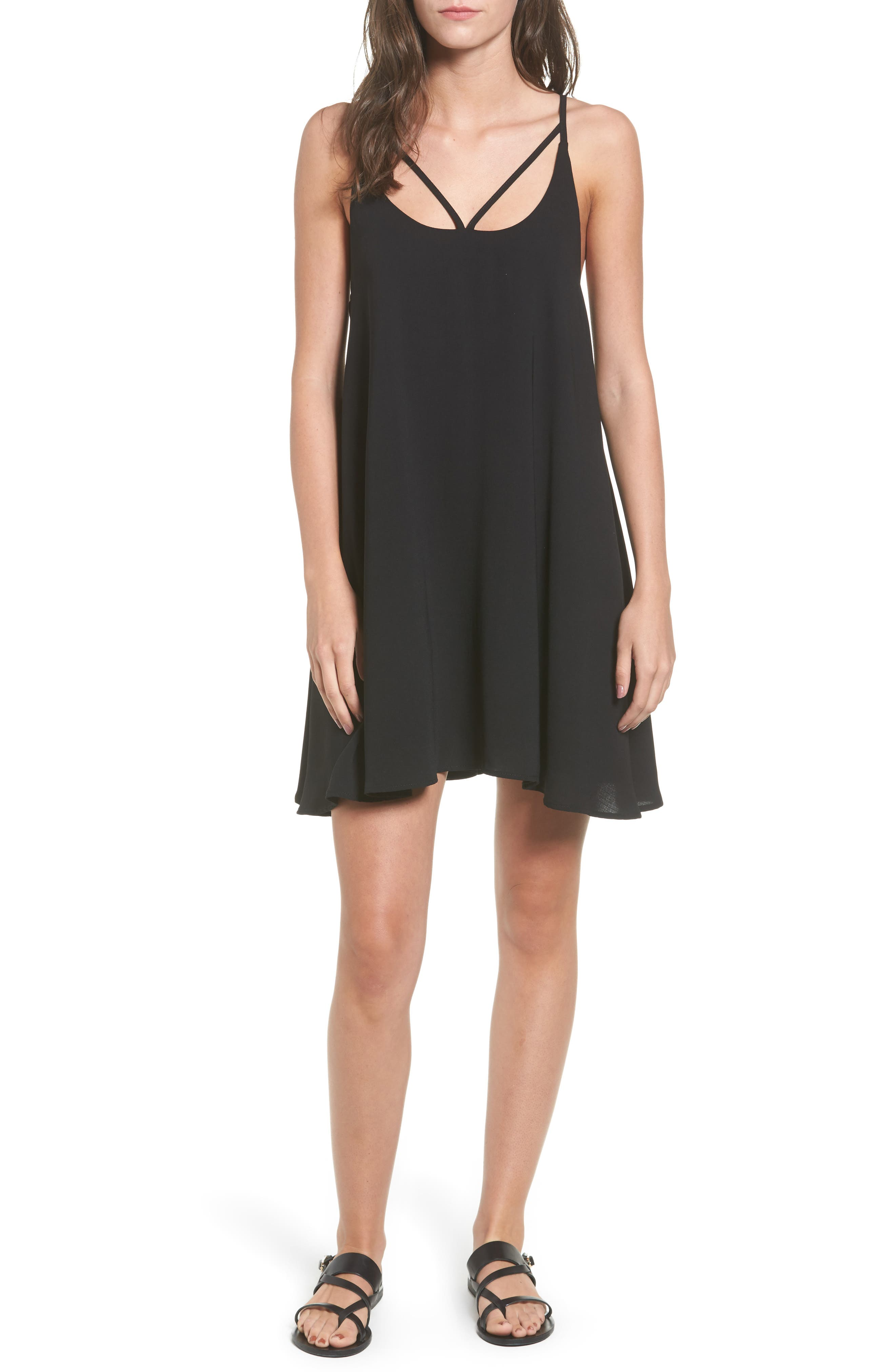 Strappy Camisole Dress,                         Main,                         color, Black