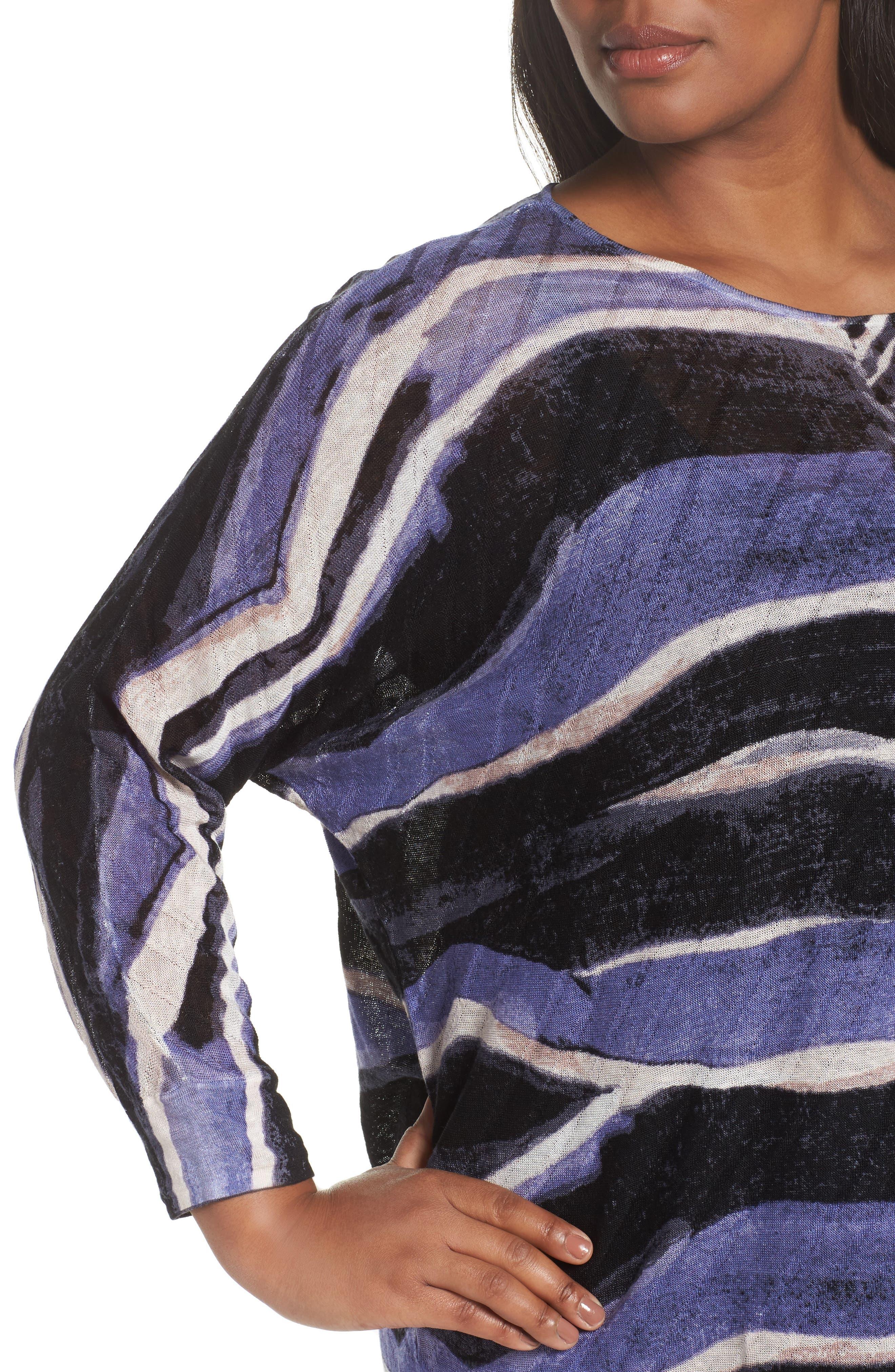 Sierra Sweater,                             Alternate thumbnail 4, color,                             Blue Multi