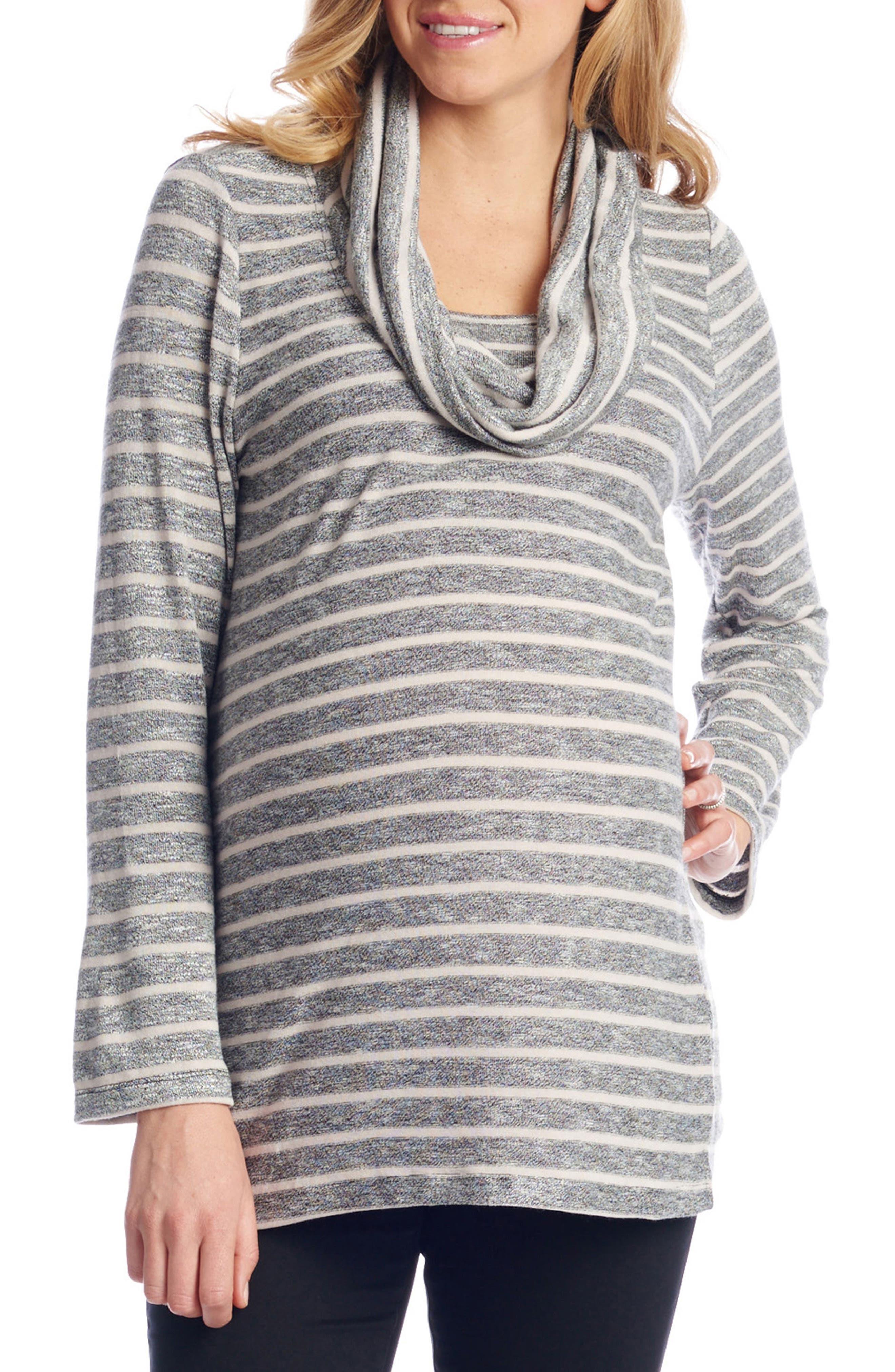 Everly Grey Reina Cowl Neck Maternity/Nursing Top