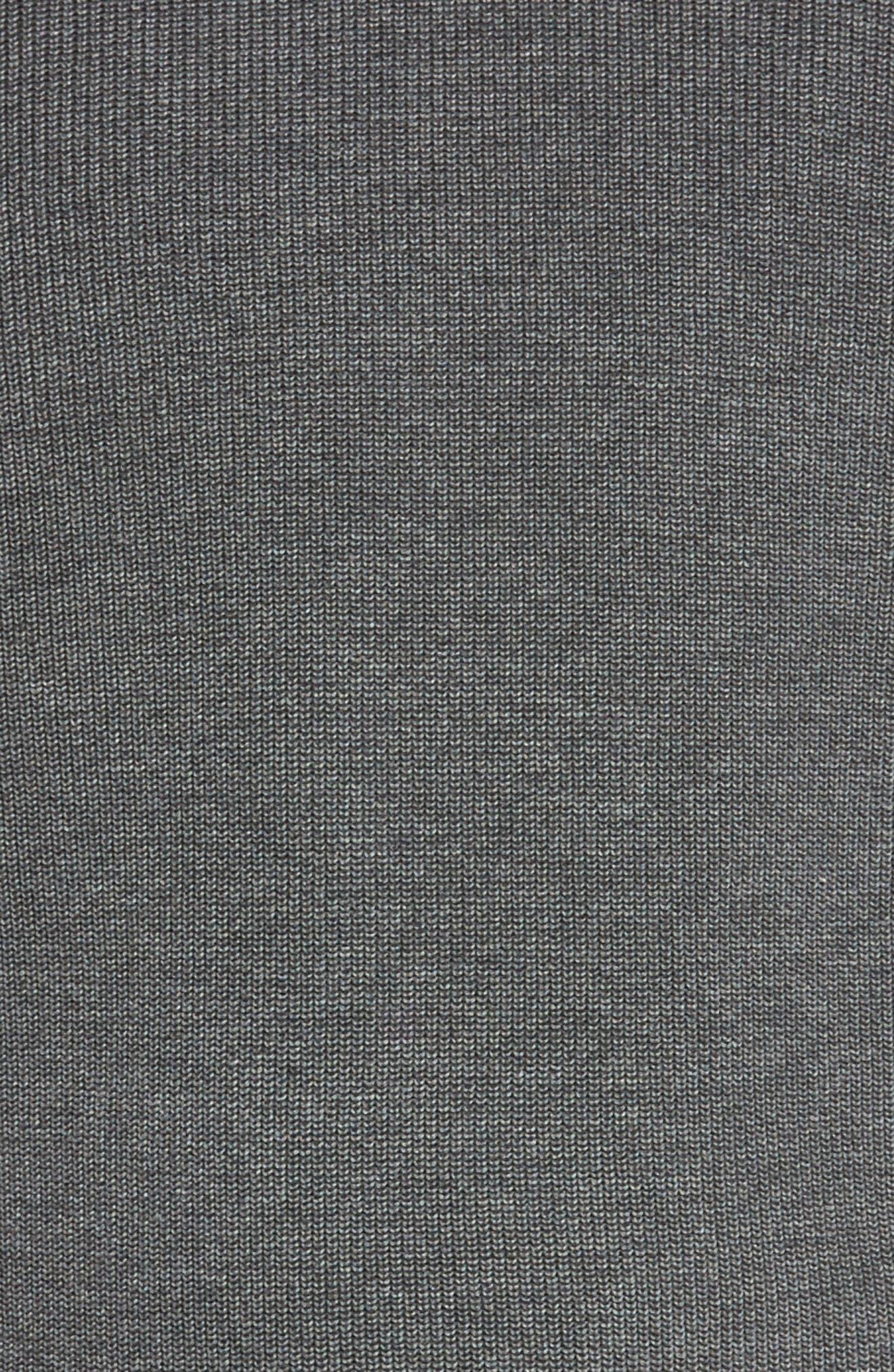 Las Palmas Reversible Sweater,                             Alternate thumbnail 4, color,                             Charcoal Heather