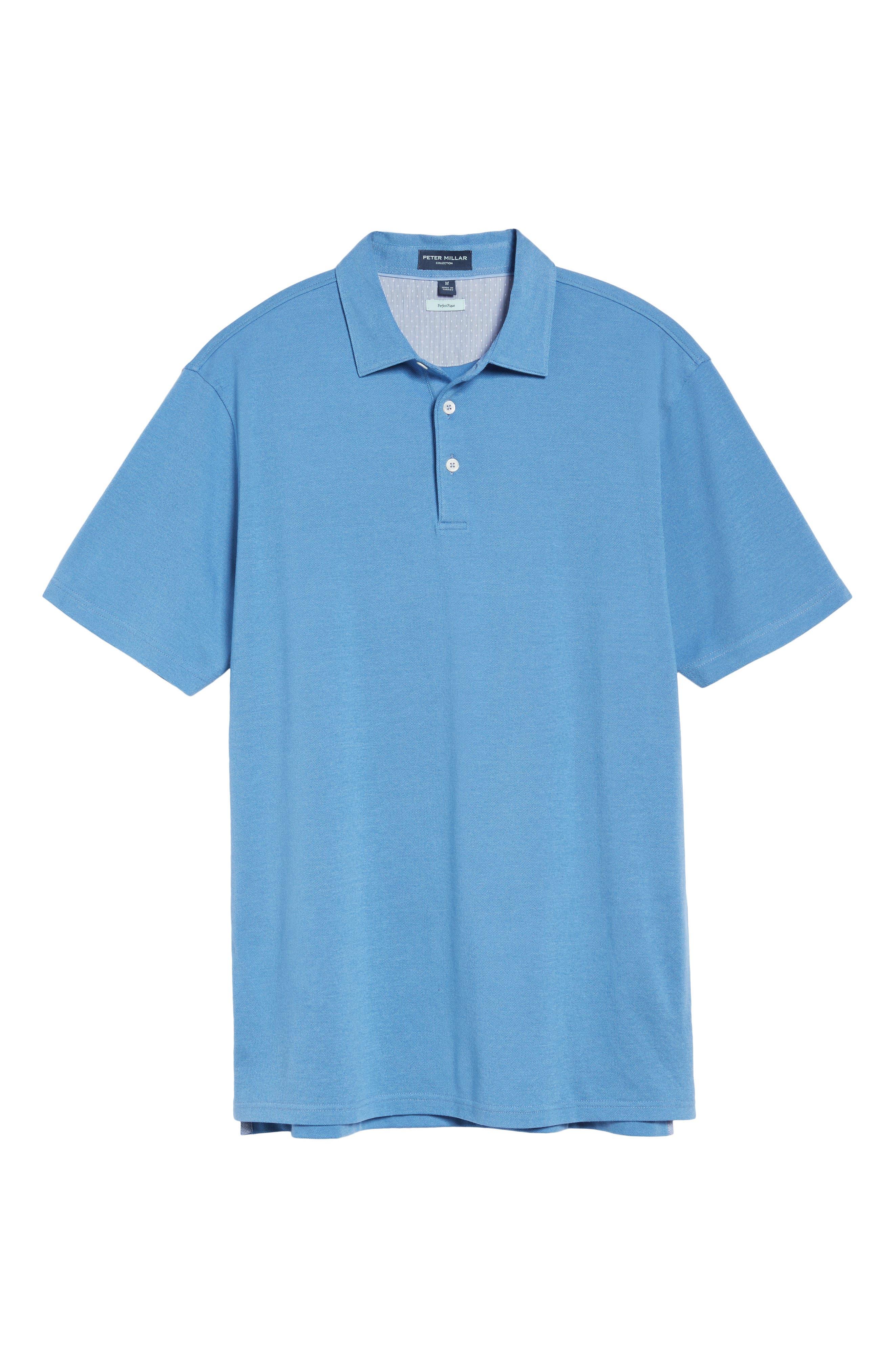 Perfect Piqué Polo,                             Alternate thumbnail 6, color,                             Avio Blue