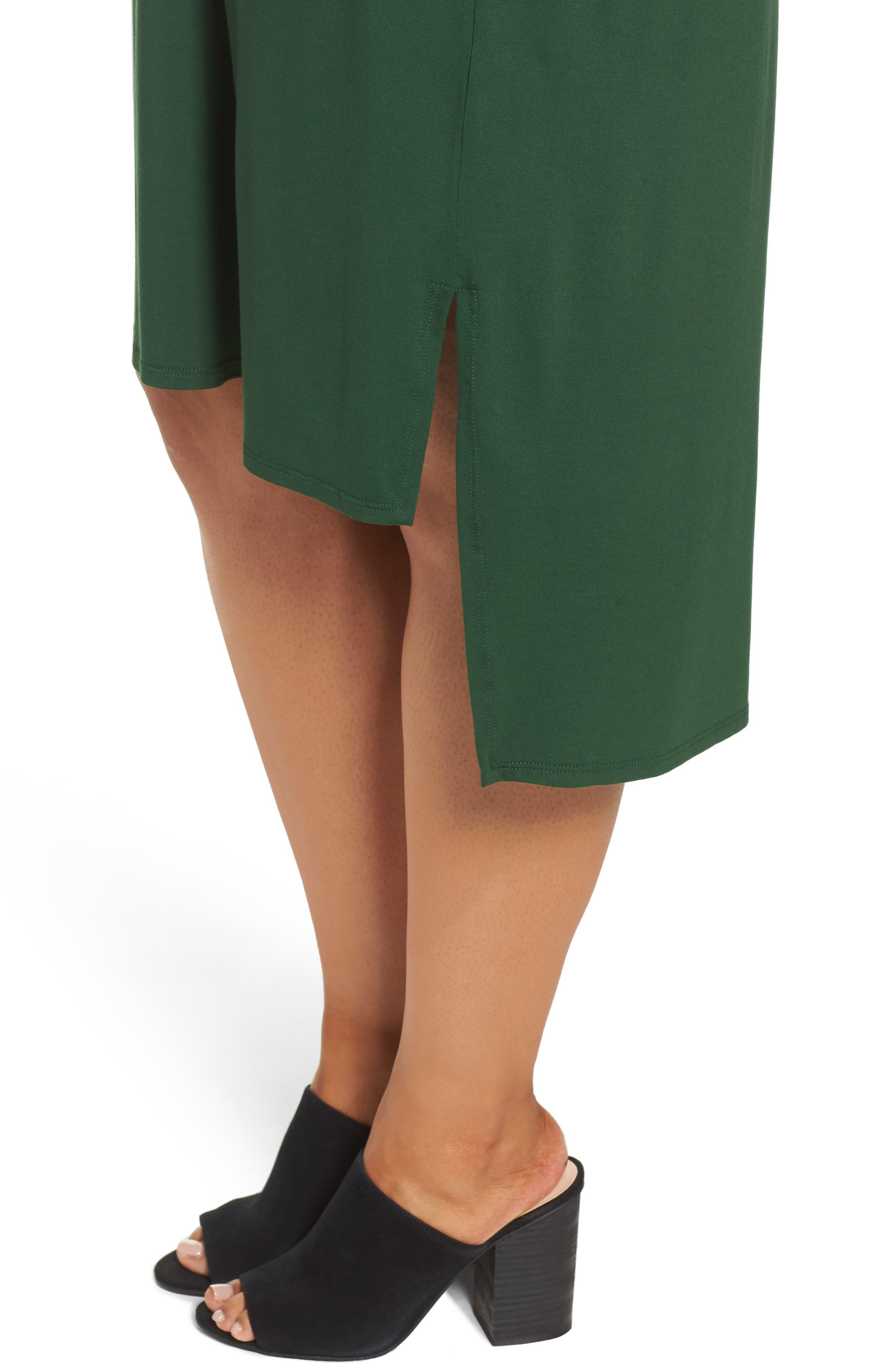 Alternate Image 4  - Eileen Fisher High/Low Jersey Shift Dress (Plus Size)