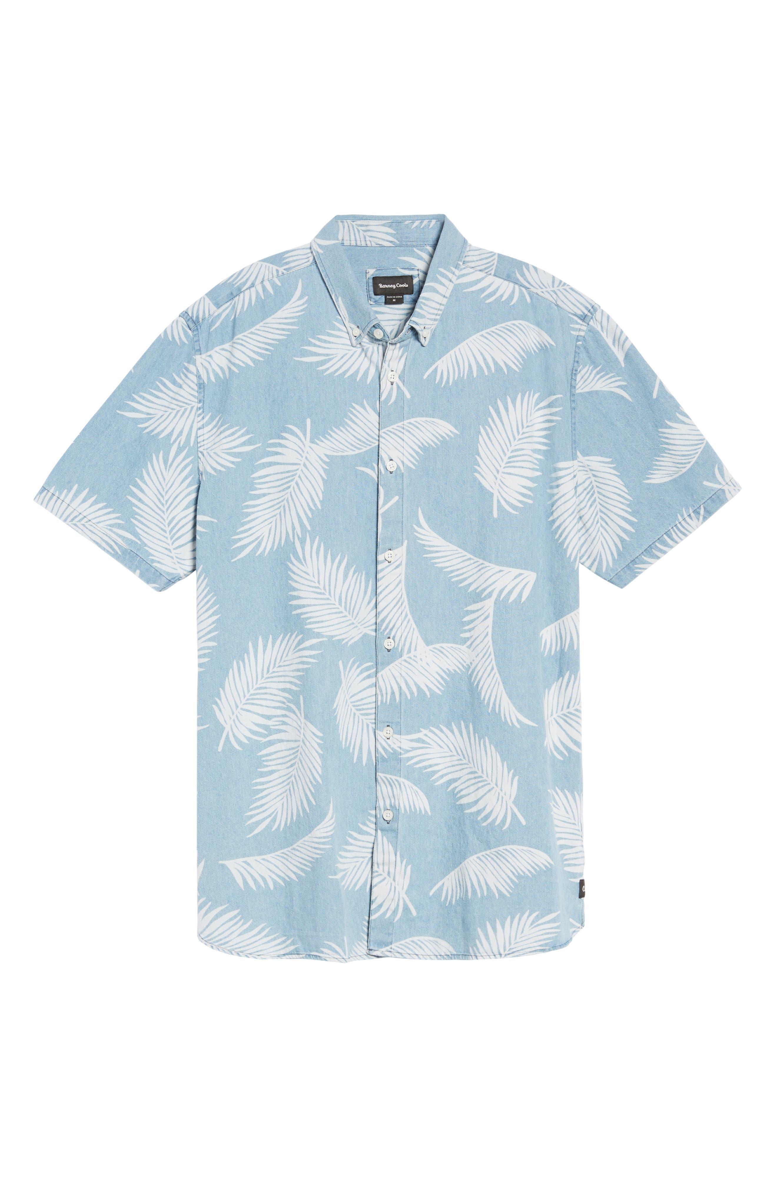 Bahamas Shirt,                             Alternate thumbnail 6, color,                             Indigo/ Floral