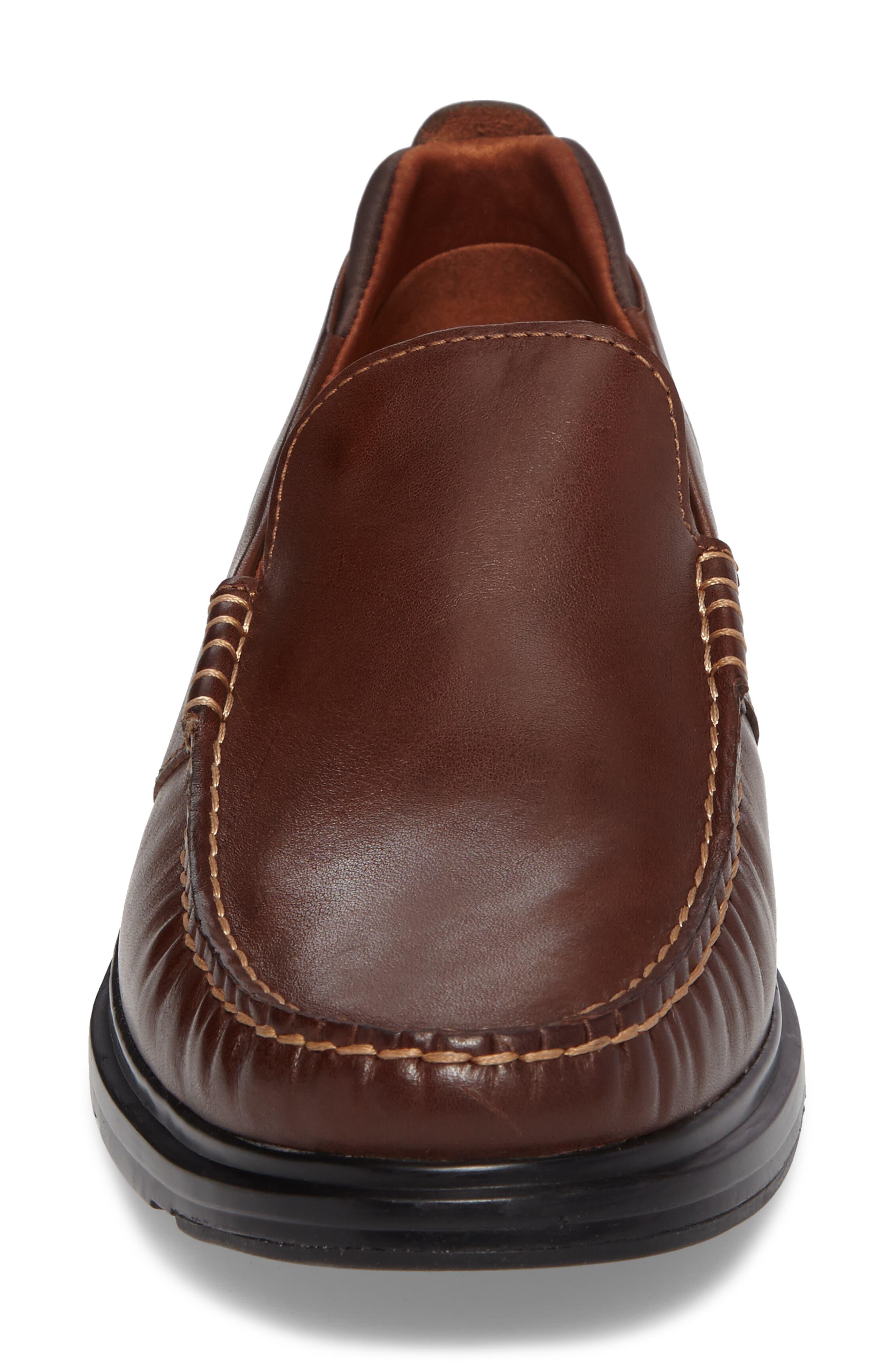 Bancroft Loafer,                             Alternate thumbnail 4, color,                             Harvest Brown Leather