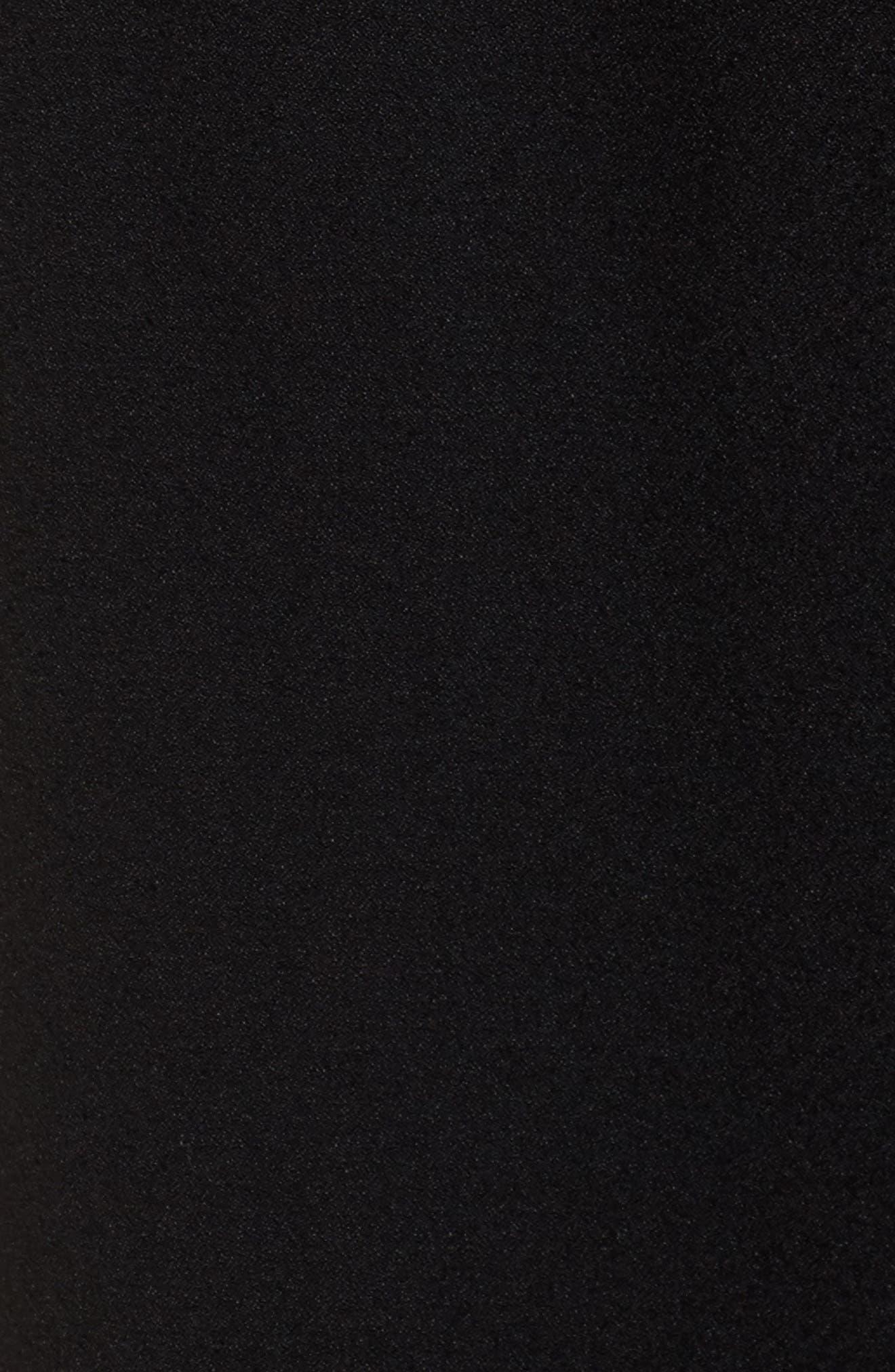 Peyton Wide Leg Halter Jumpsuit,                             Alternate thumbnail 5, color,                             Noir