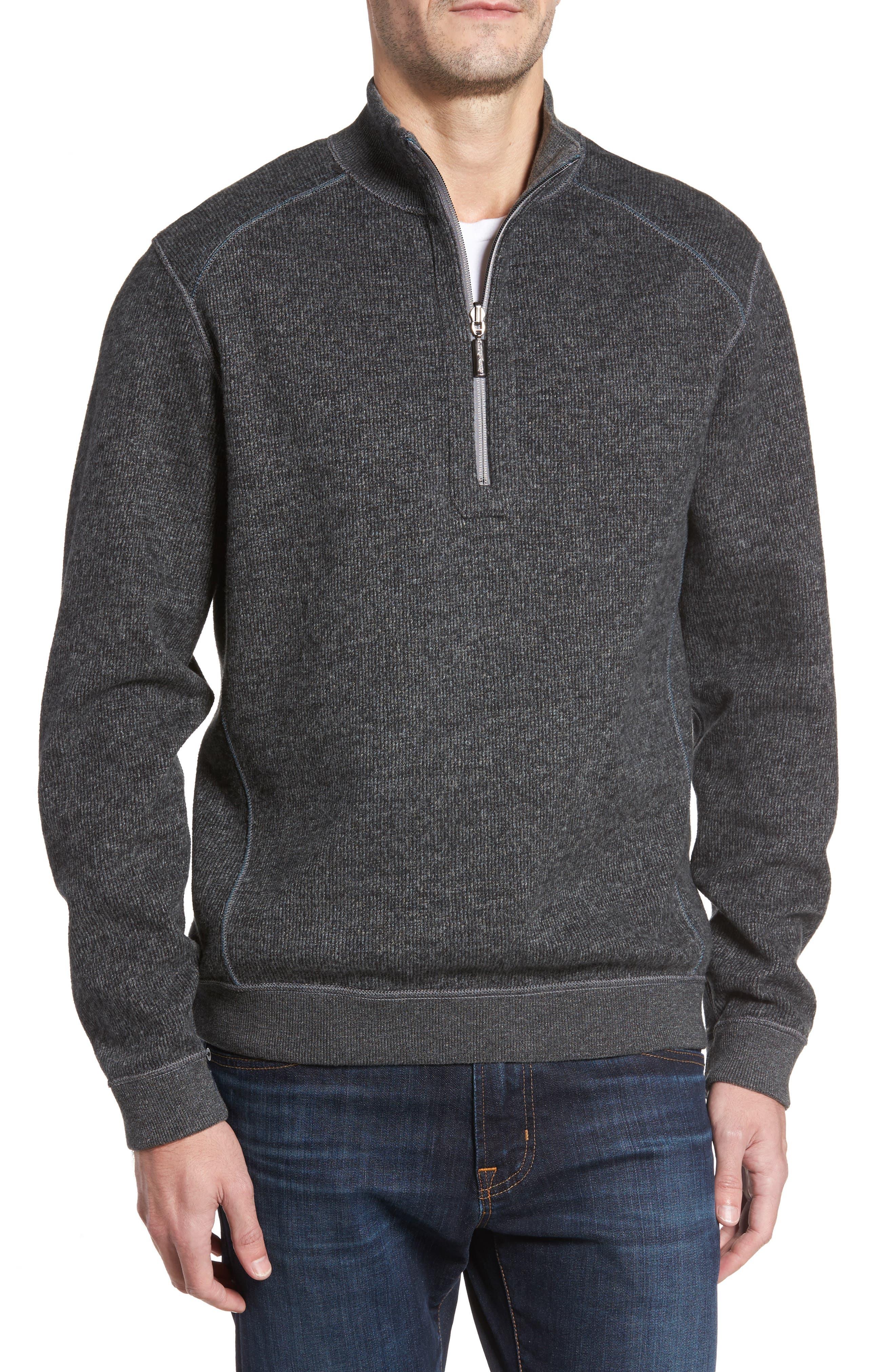 Alternate Image 4  - Tommy Bahama Flipsider Half Zip Reversible Sweatshirt