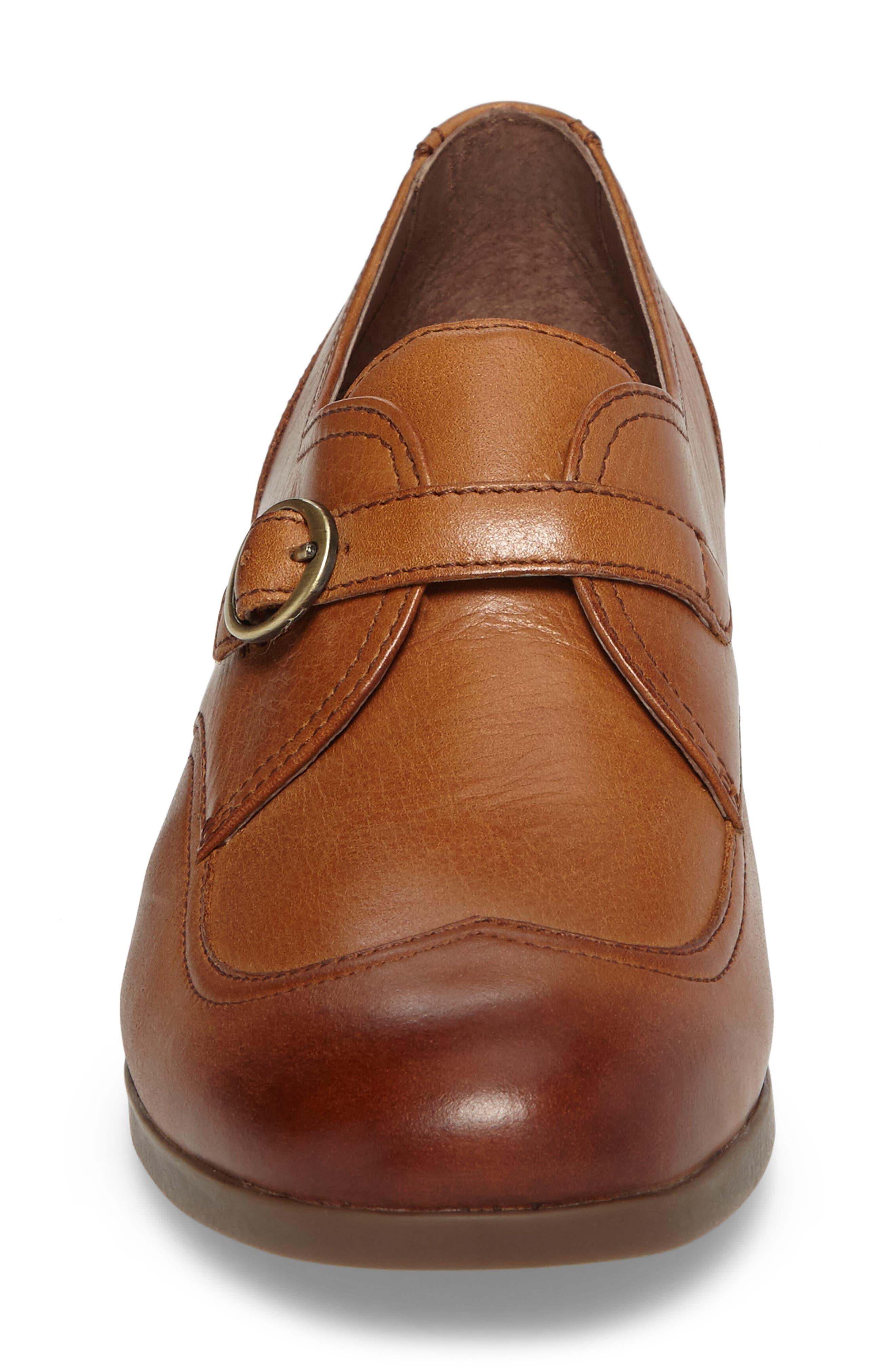 Livie Wingtip Oxford,                             Alternate thumbnail 4, color,                             Saddle Burnished Nappa Leather