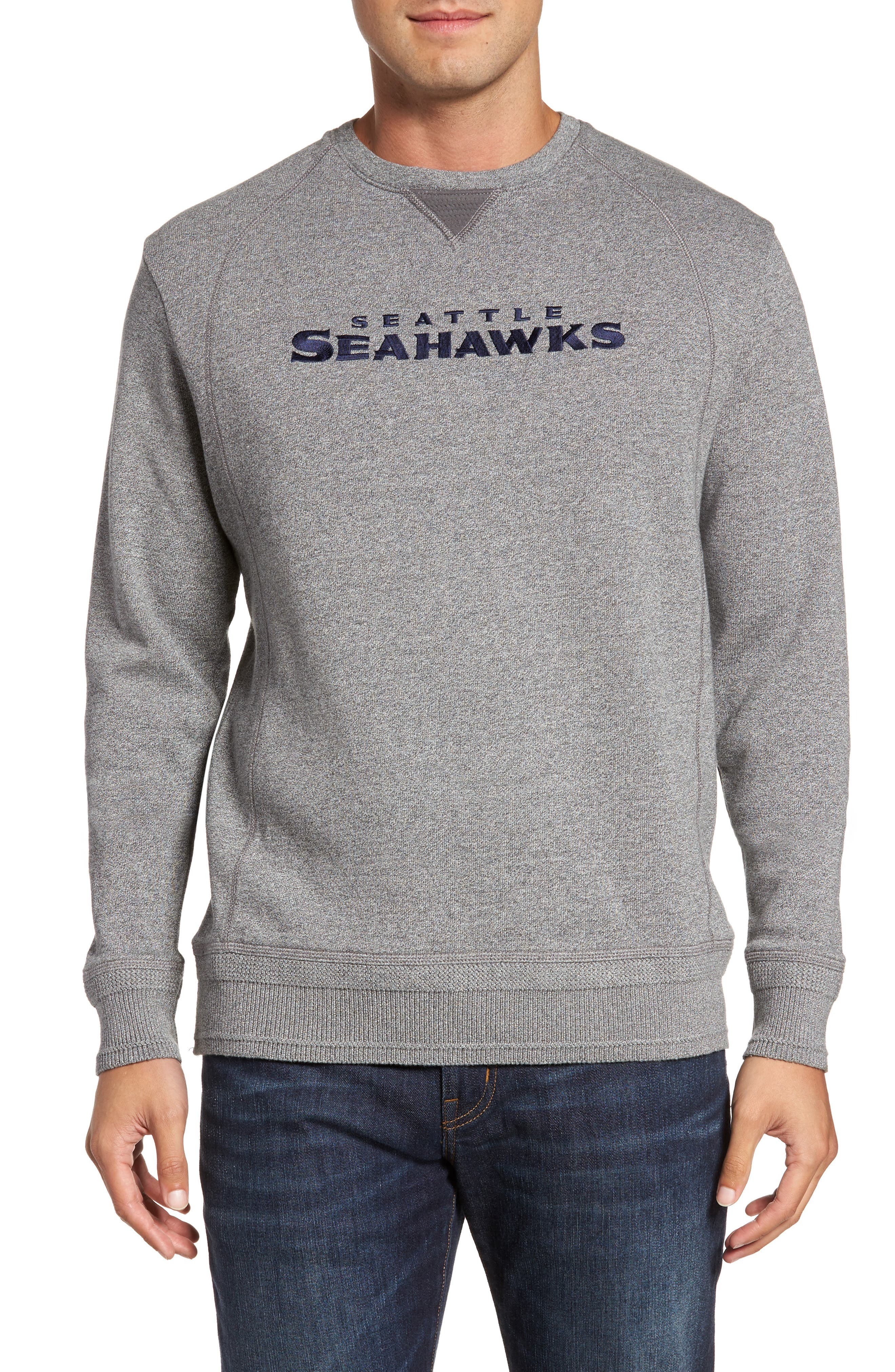 TOMMY BAHAMA NFL Stitch of Liberty Embroidered Crewneck Sweatshirt